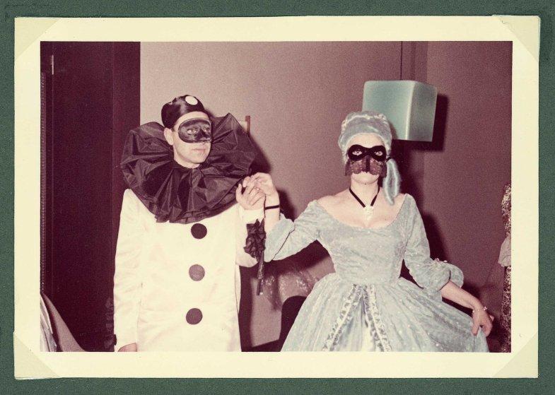 A masquerade party at the Uaddan Hotel
