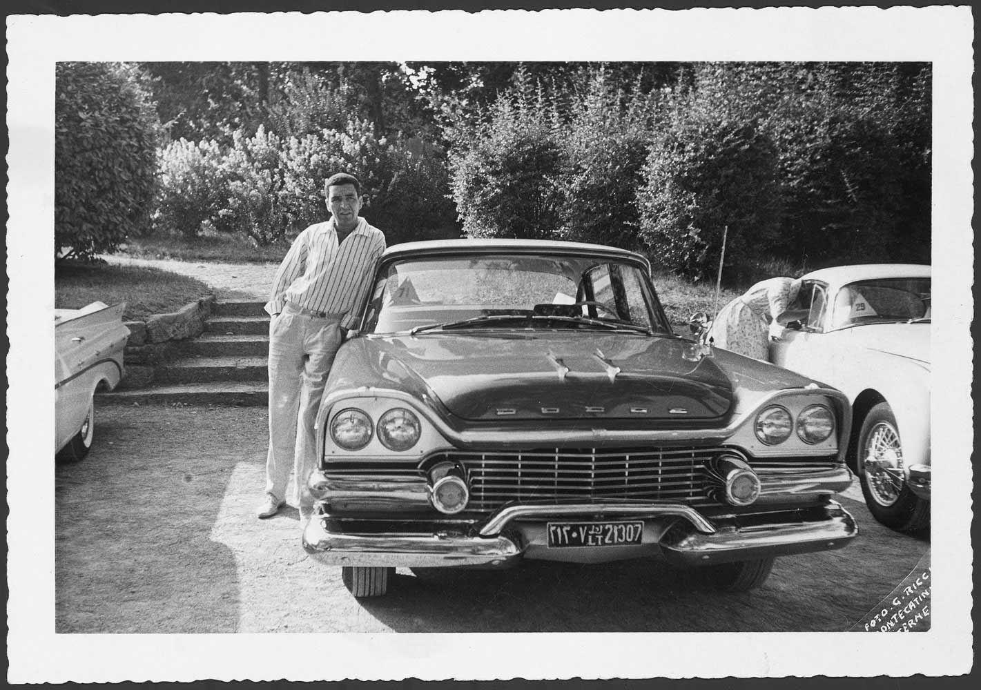 Mohamed Nga with his car - purchased on a U.S. military base in Tripoli - which he later entered in car shows