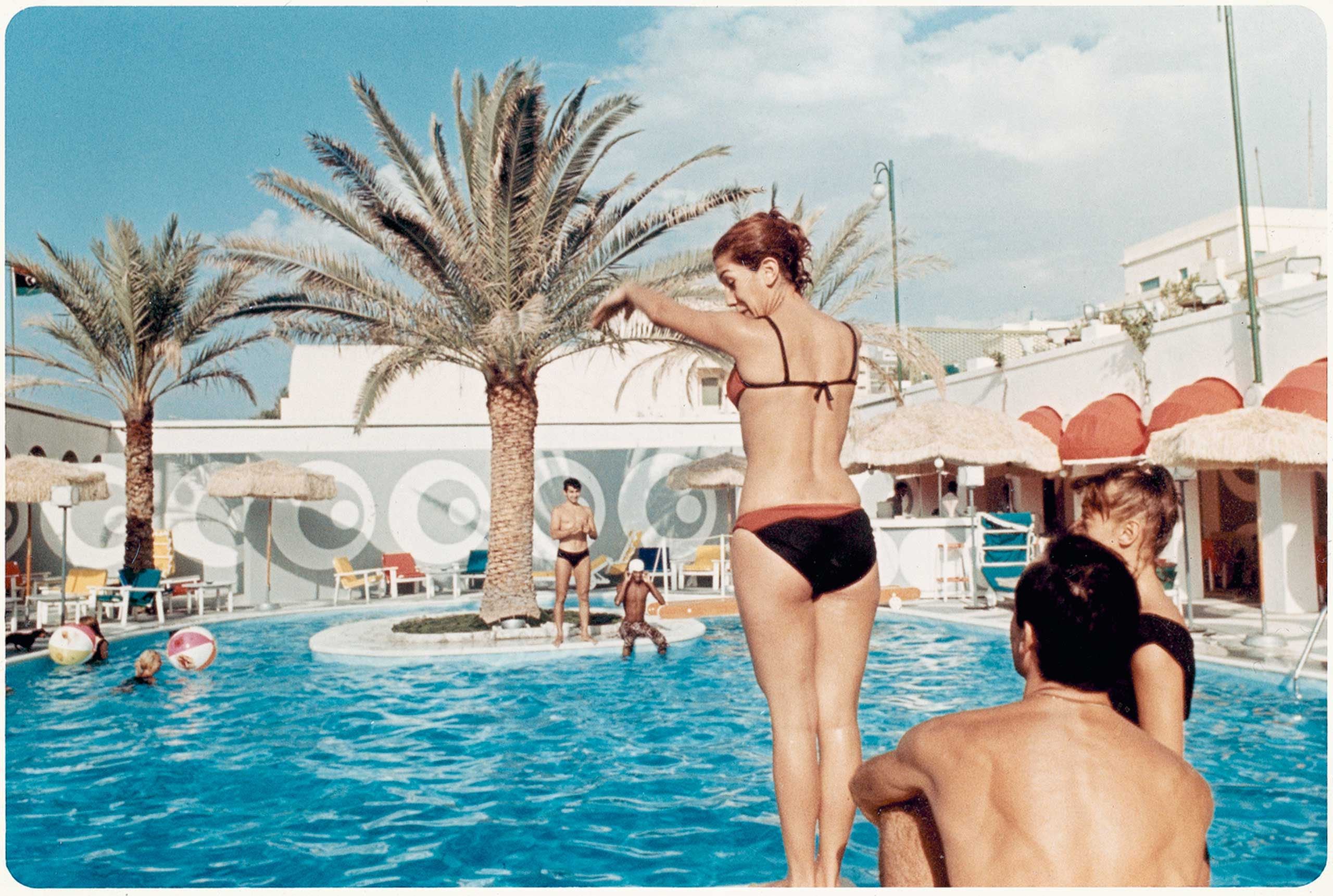 The Uaddan Hotel swimming pool was the center stage for cosmopolitan Libyans