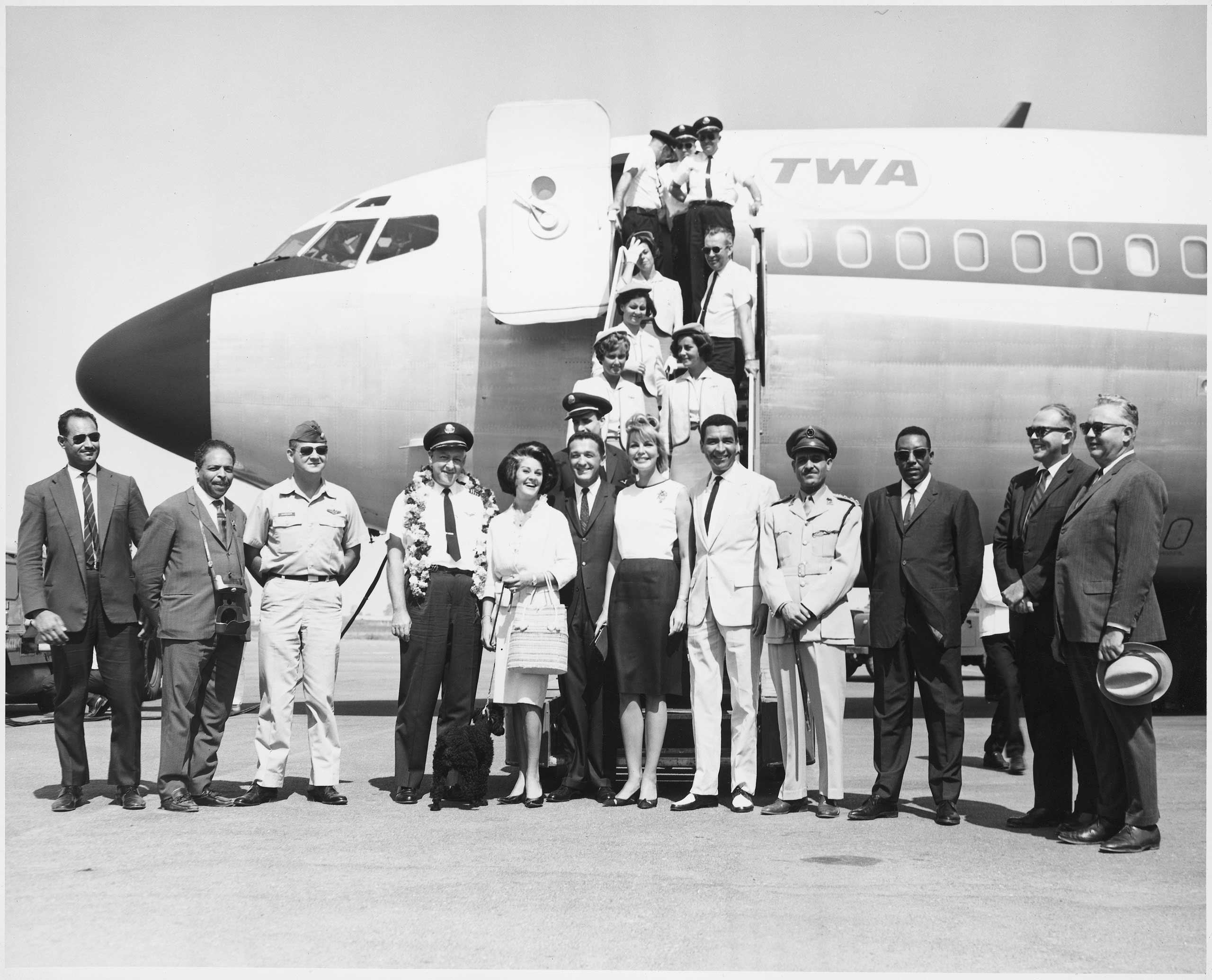 The maiden voyage for TWA service to Tripoli