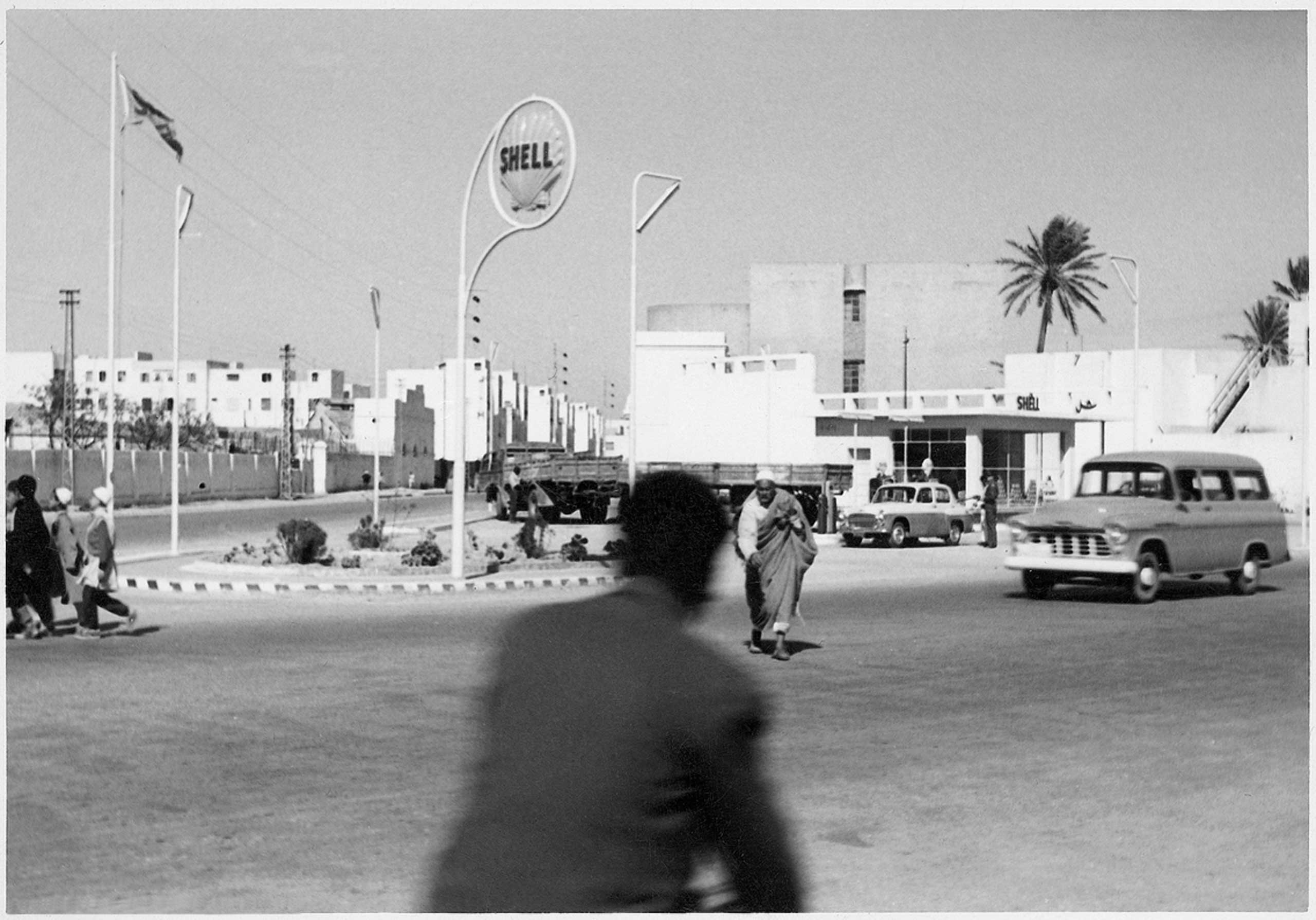 The first Shell gas station that Mohamed Nga opened in Tripoli