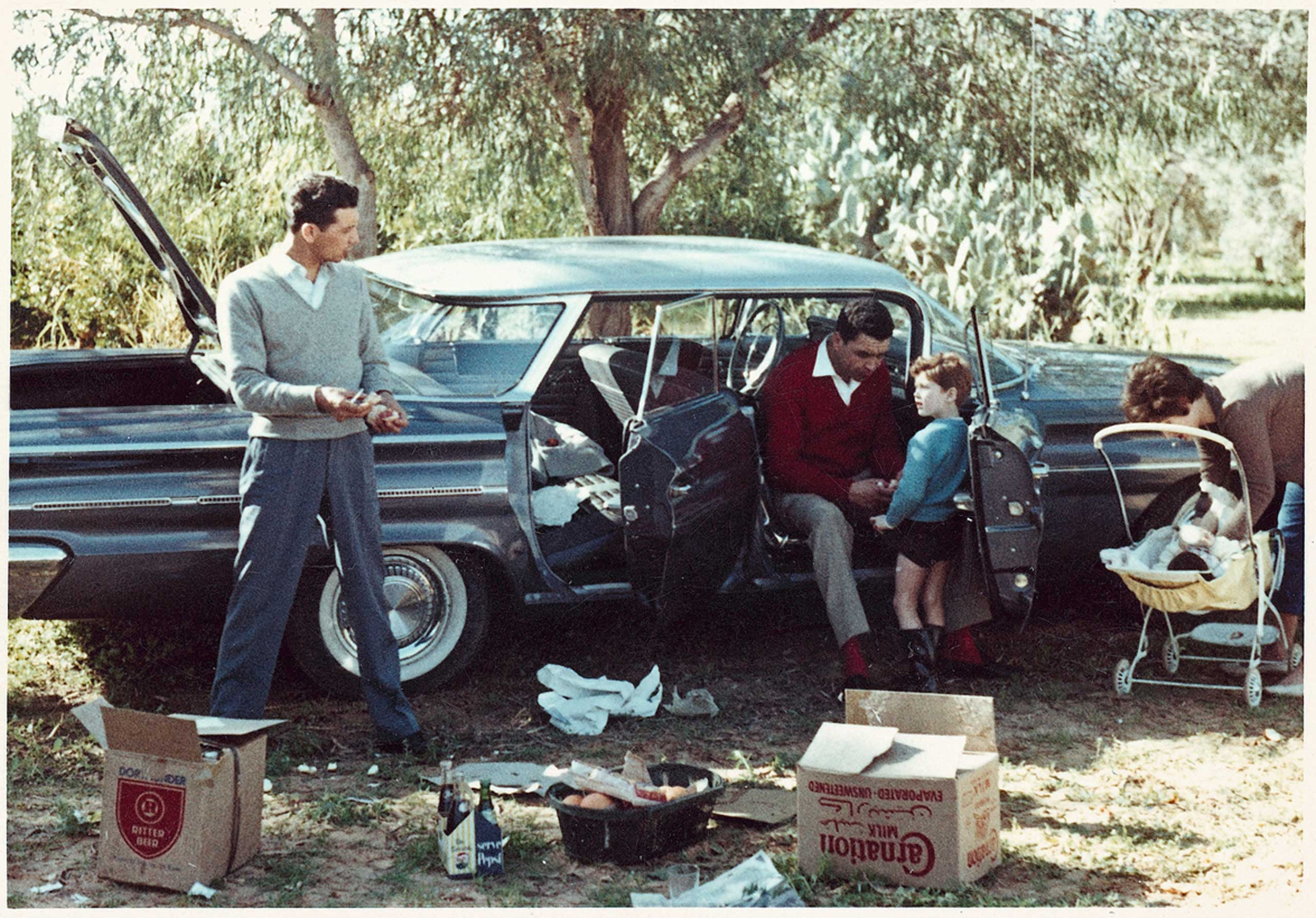A picnic in Mohamed Nga's car, which he had purchased on a U.S. military base in Tripoli