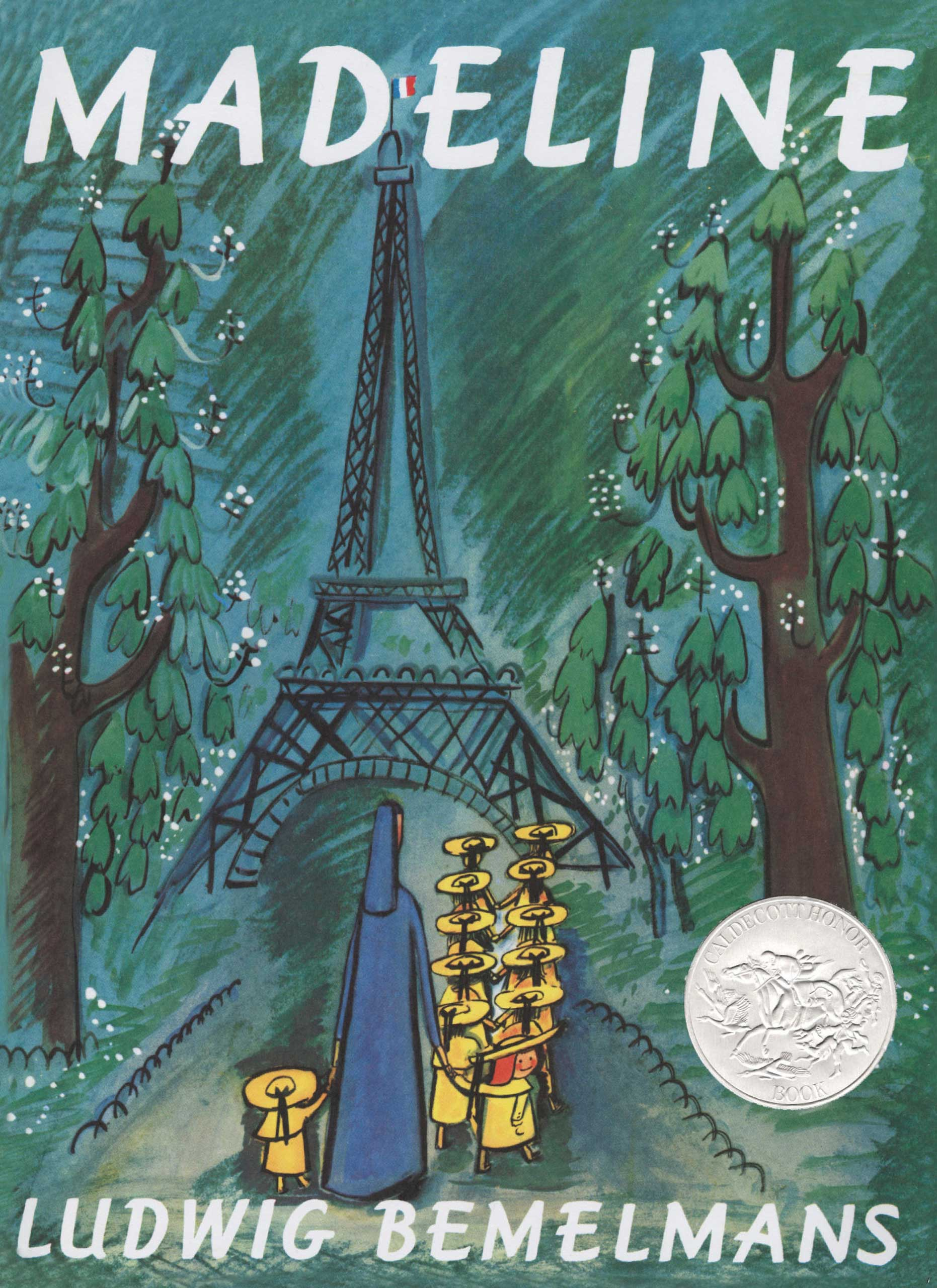 Madeline (series), by Ludwig Bemelmans.                                                                                                                            A spunky French girl navigates boarding school and the removal of her appendix with confidence and poise.                                                                                                                            Buy now: Madeline (series)