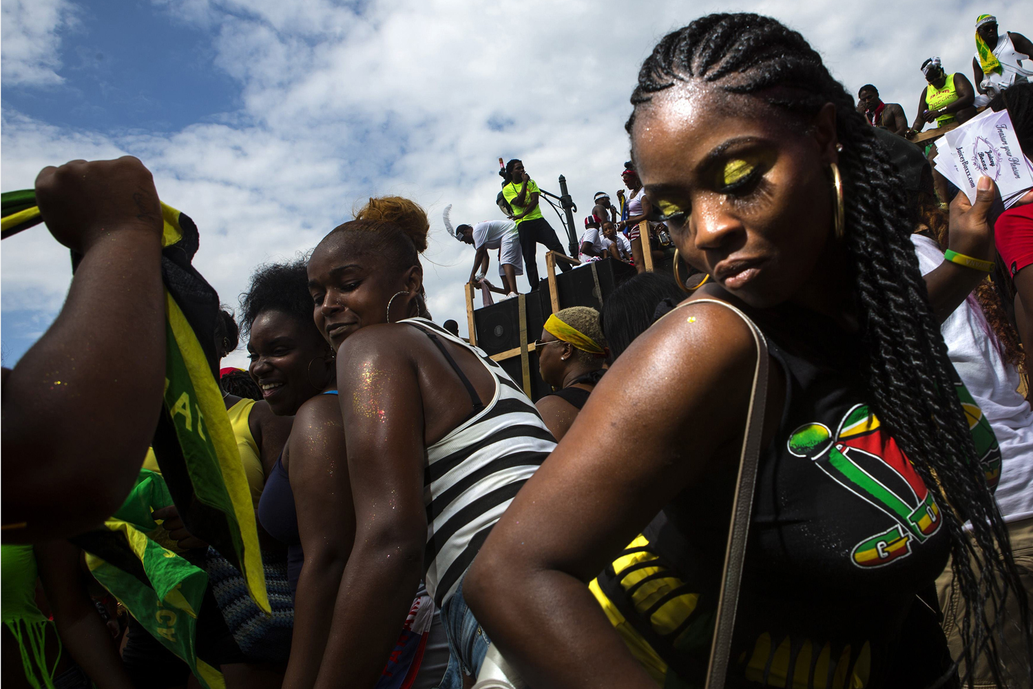 Sept. 1, 2014. Participants dance during the West Indian Day Parade in the Brooklyn borough of New York.