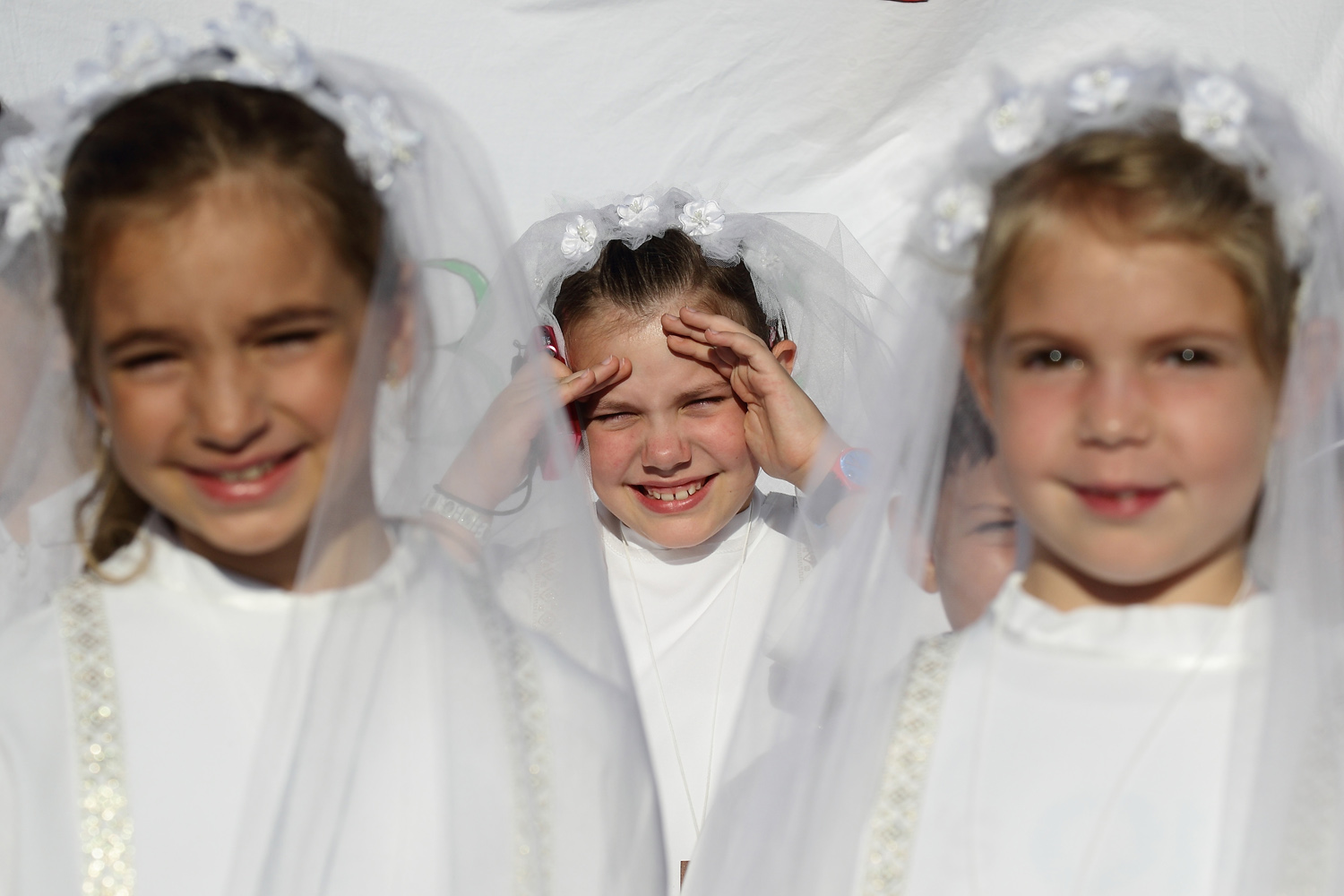 Sept 3, 2014 . Young girls hope to meet Pope Francis during his general audience in St. Peter's Square at the Vatican.