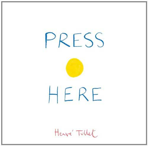 Press Here, by Herve Tullet.                                                                                                                            An innovative, interactive work that gets kids to play with the physical form of the book.                                                                                                                            Buy now: Press Here