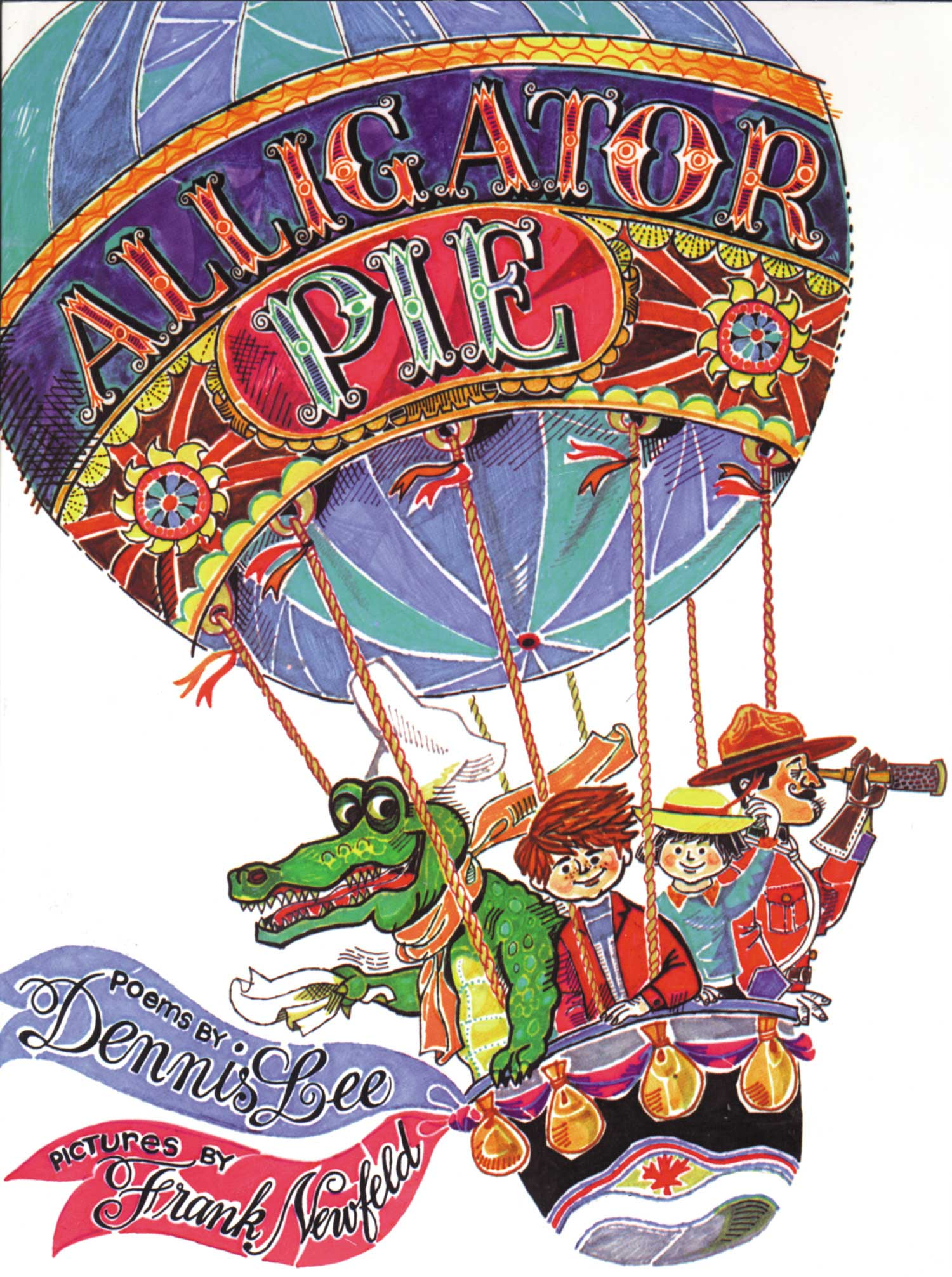 Alligator Pie, by Dennis Lee, illustrations by Jack Newfeld.                                                                                                                            A Canadian classic chock full of playful rhyming verse.                                                                                                                            Buy now: Alligator Pie