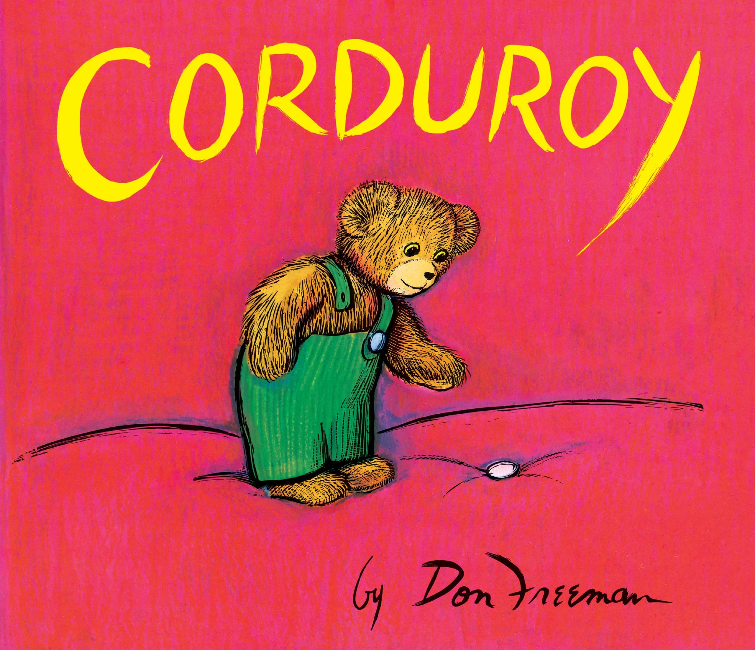 Corduroy, by Don Freeman.                                                                                                                            In the middle of the night, a toy bear comes to life and hops off the shelf to replace his missing button.                                                                                                                            Buy now: Corduroy