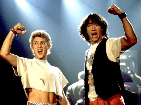 Alex Winter, Keanu Reeves, in the original Bill & Ted's Excellent Adventure, 1989