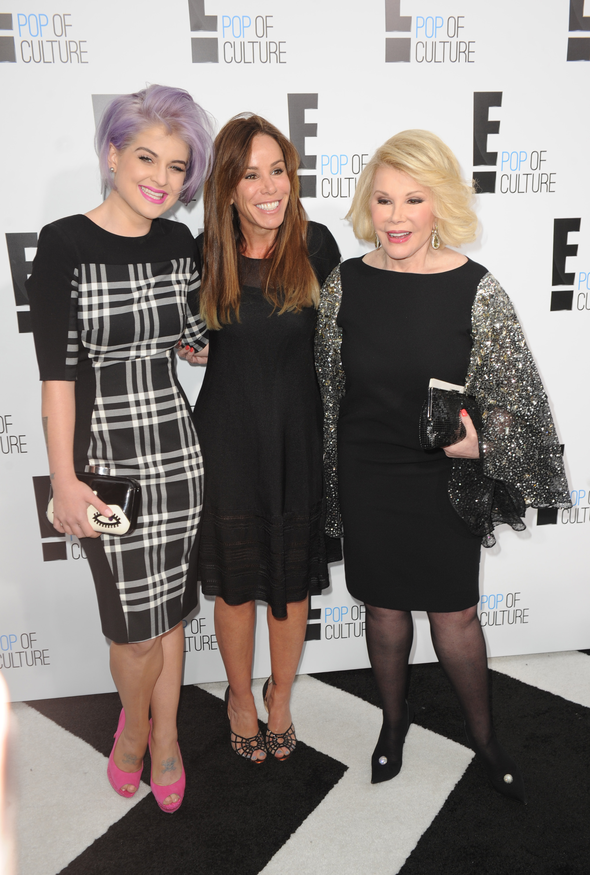Rivers, pictured with Kelly Osbourne and daughter Melissa in 2012, became best-known to younger generations for hosting E!'s red carpet pre-awards show for the Oscars.