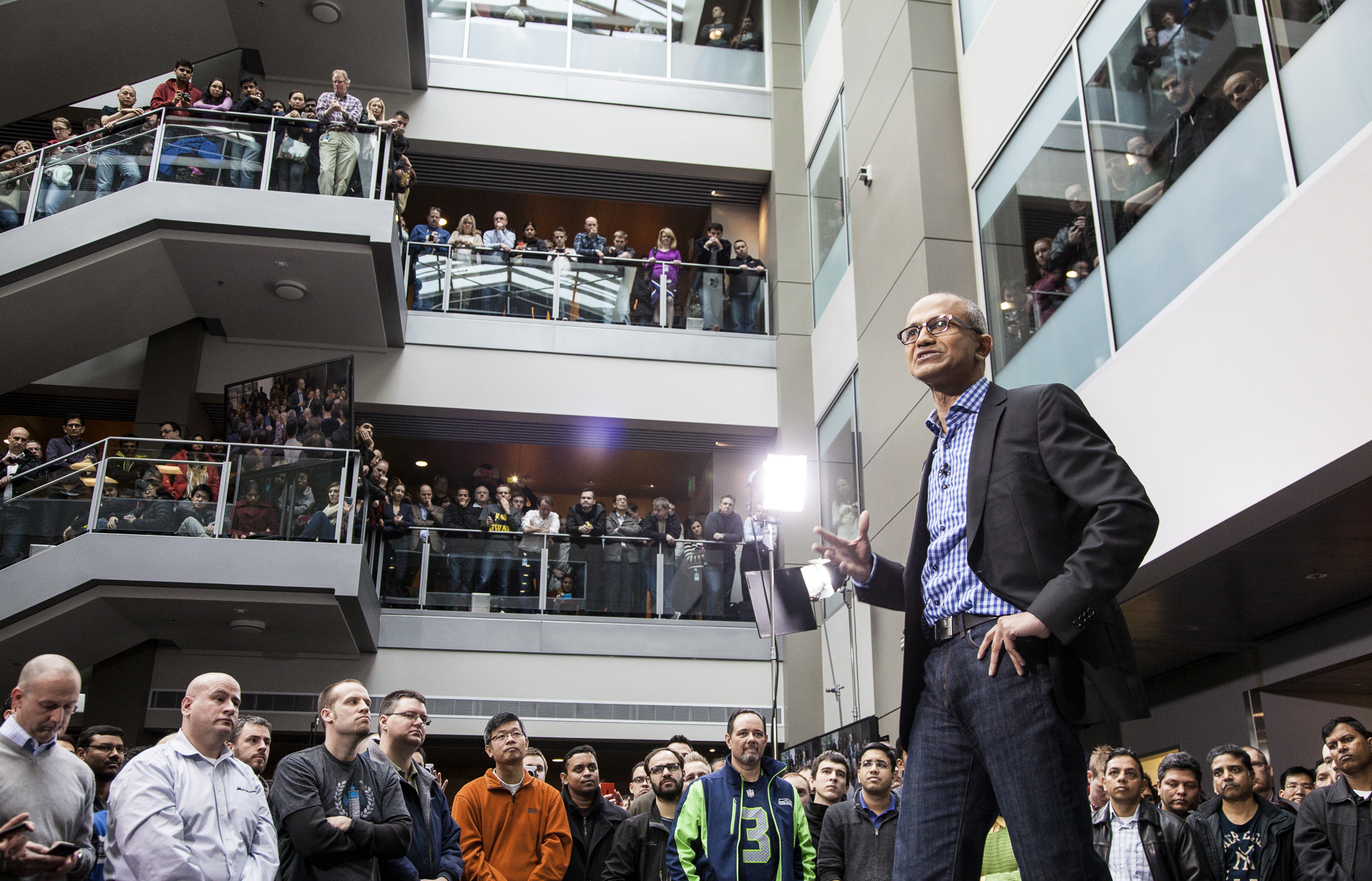 Satya Nadella just took over the reins at Microsoft earlier this year from now-Clippers owner Steve Ballmer, but he's already making his presence known through sizable layoffs and simultaneous acquisitions. Nadella's Microsoft has let go of nearly 15,000 employees this year — a chunk of whom were made redundant when Microsoft closed an approximately $7.2 billion deal for Nokia's device wing. Also on Microsoft's tab? $2.5 billion for the Swedish gaming company behind top-hit Minecraft.