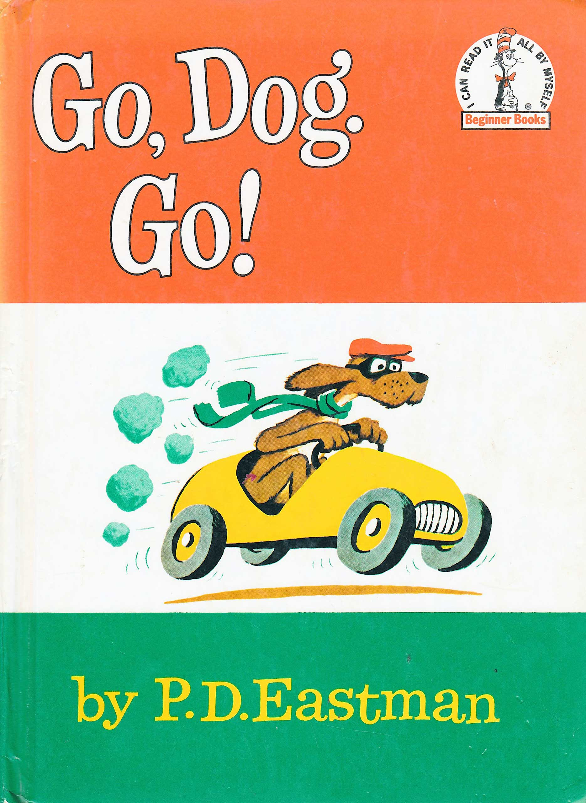 Go Dog, Go, by P.D. Eastman.                                                                                                                            This book for beginning readers manages to convey some very deep lessons in an accessible form.                                                                                                                            Buy now: Go Dog, Go