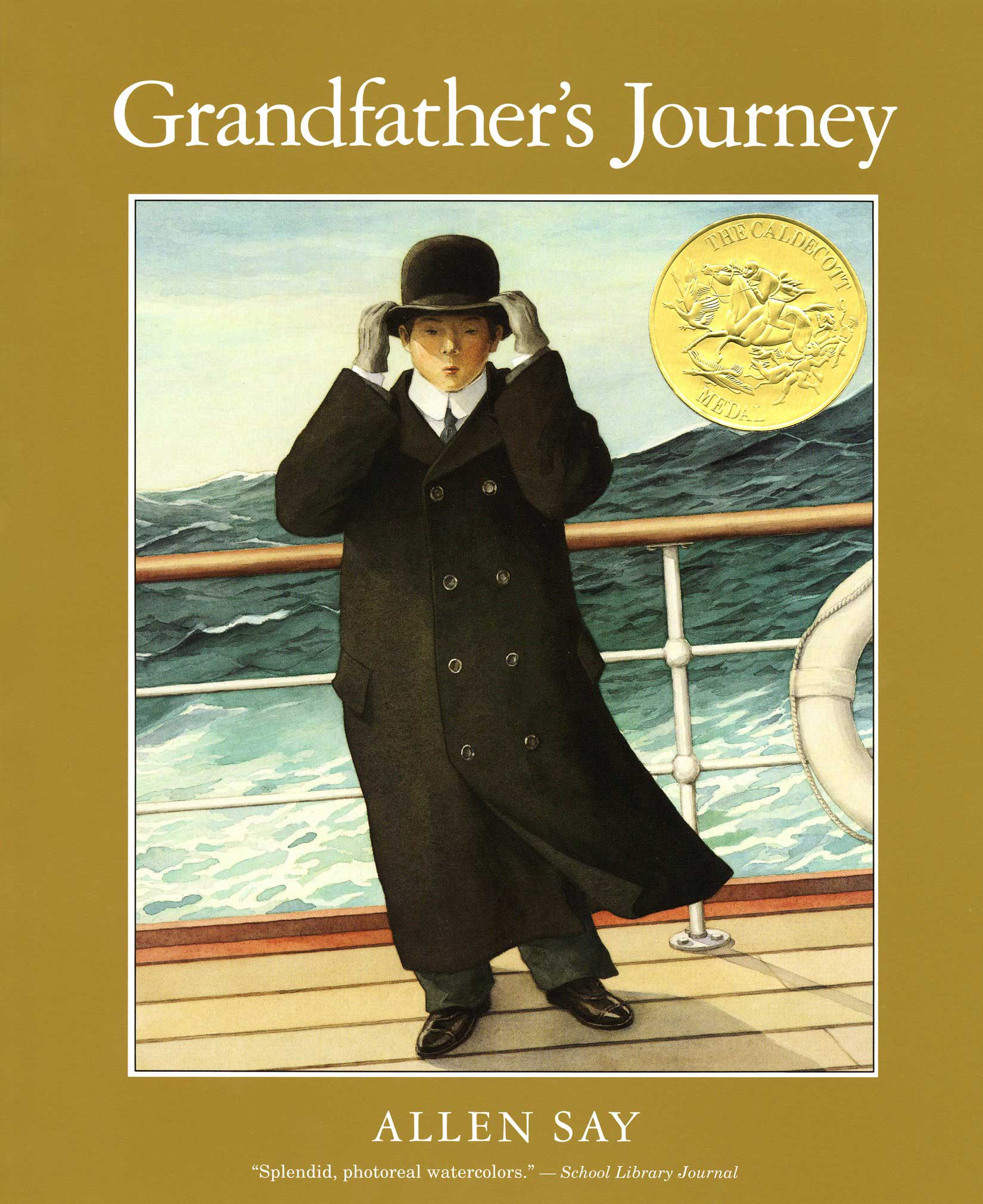 Grandfather's Journey, by Allen Say.                                                                                                                            The author chronicles his grandfather's journey from Japan to California and back again, pairing it with delicate, warm art.                                                                                                                            Buy now: Grandfather's Journey