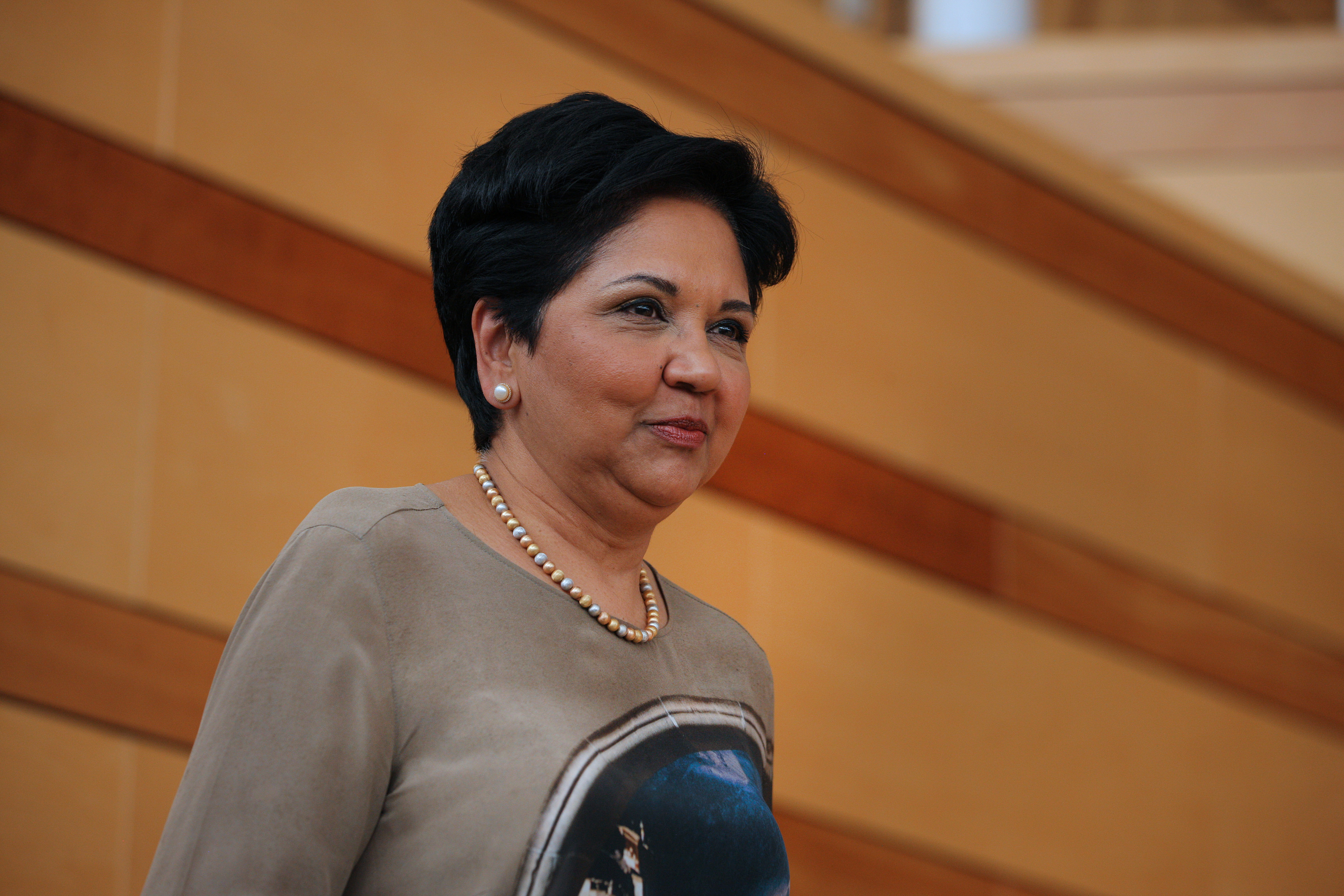 Indra Nooyi, chairman and chief executive officer of PepsiCo., arrives to speak during the Aspen Ideas Festival in Aspen, Colorado, U.S., on Monday, June 30, 2014.