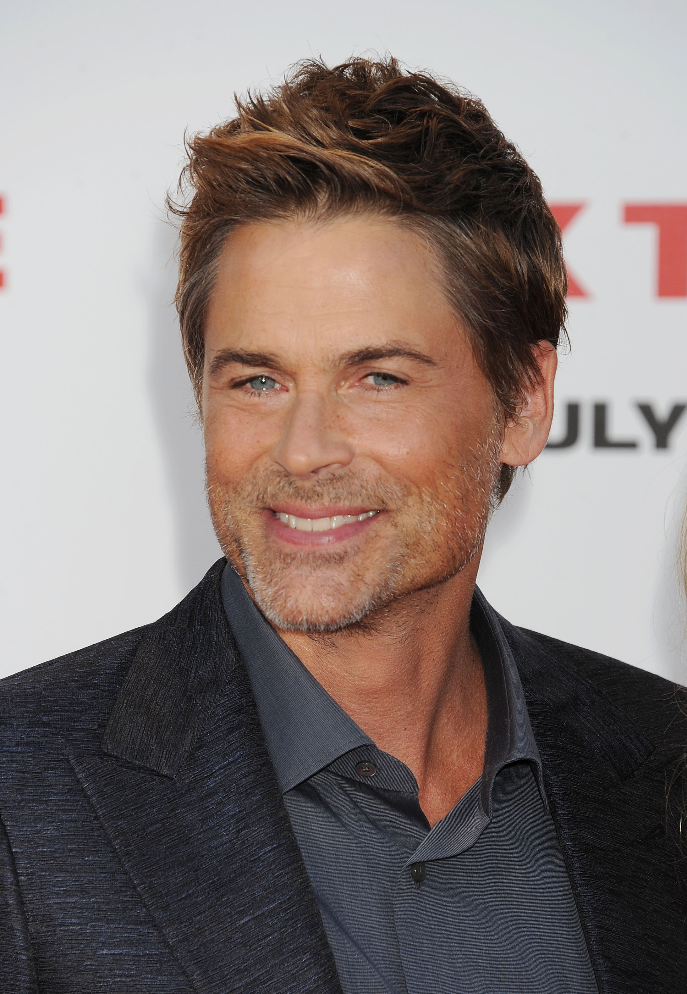 Actor Rob Lowe arrives at the  Sex Tape  Los Angeles Premiere at Regency Village Theatre on July 10, 2014 in Westwood, California.