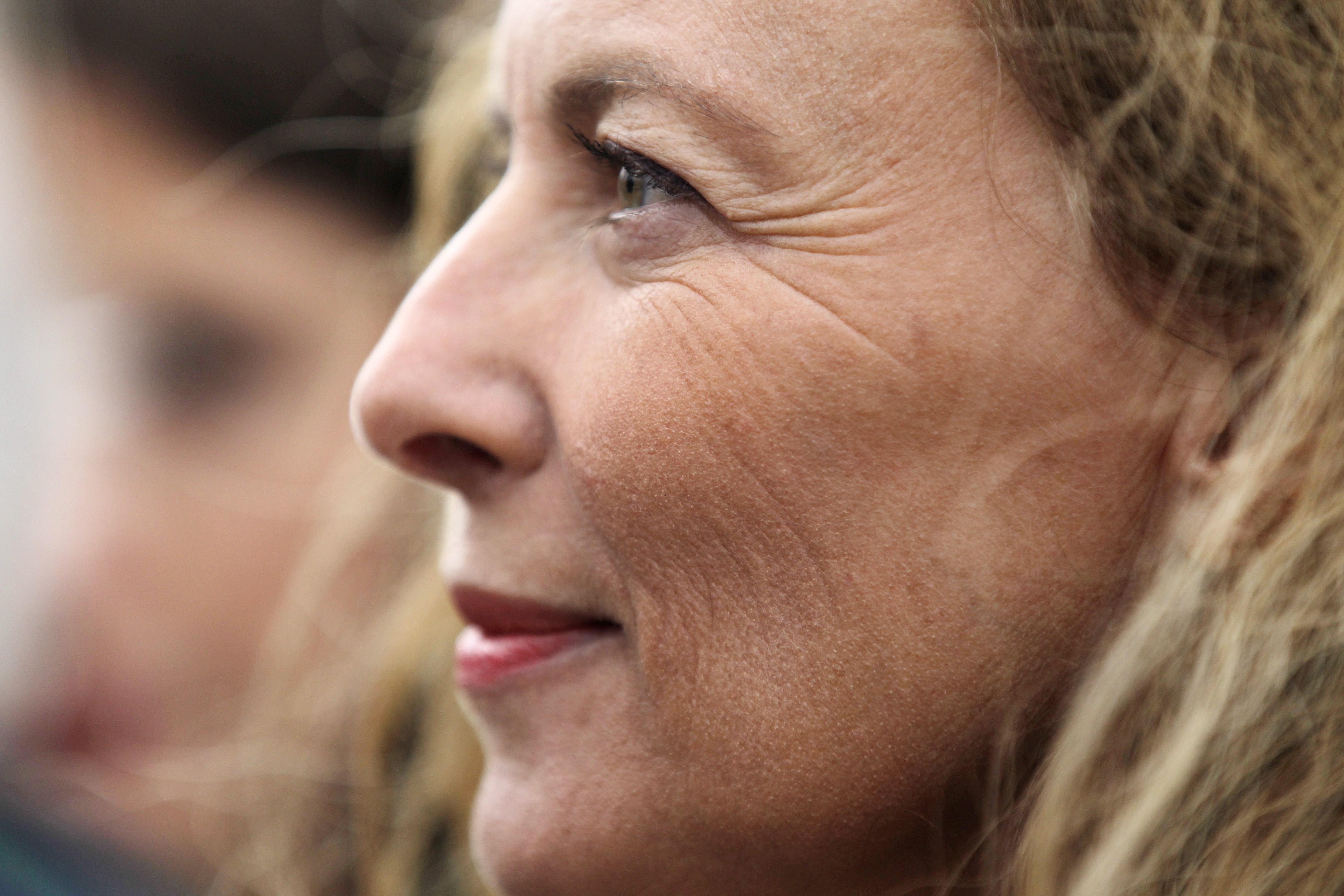 French former First lady Valerie Trierweiler is pictured on a beach in Ouistreham, northwestern France, on August 20, 2014.