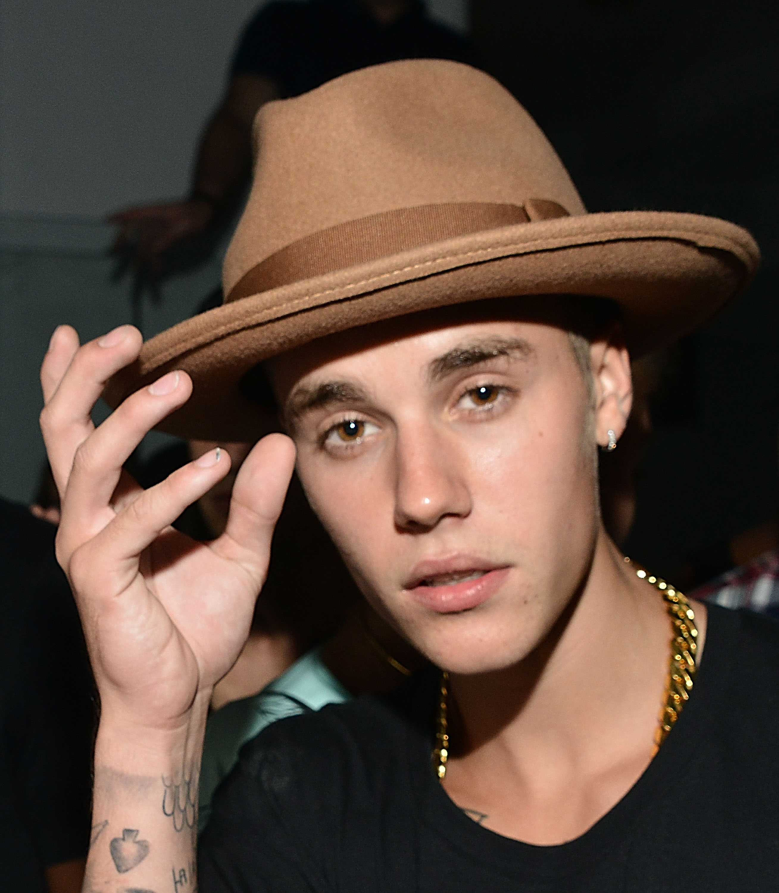 Justin Bieber attends a VMA Pre-Party on August 23, 2014 in Los Angeles.