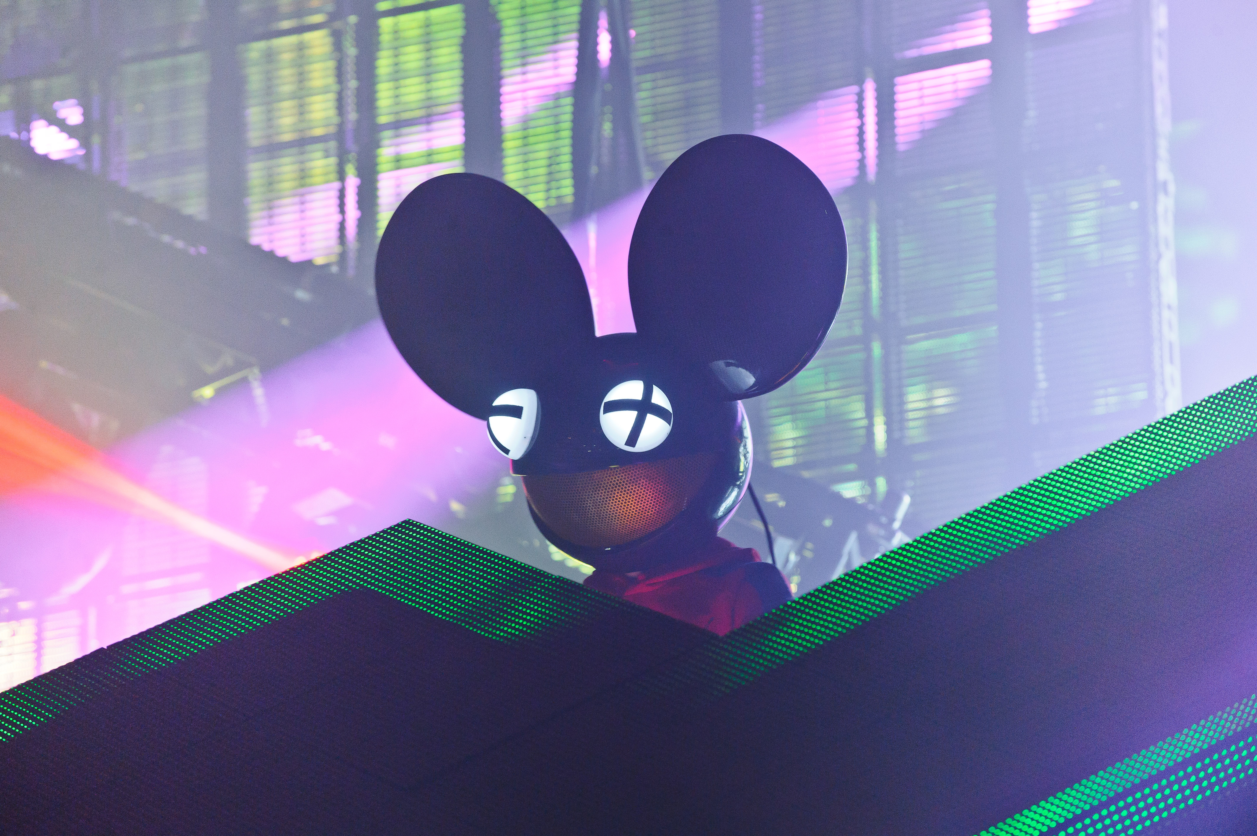 Deadmau5 performs on stage at South West Four Festival 2014 on Aug. 24, 2014, in London