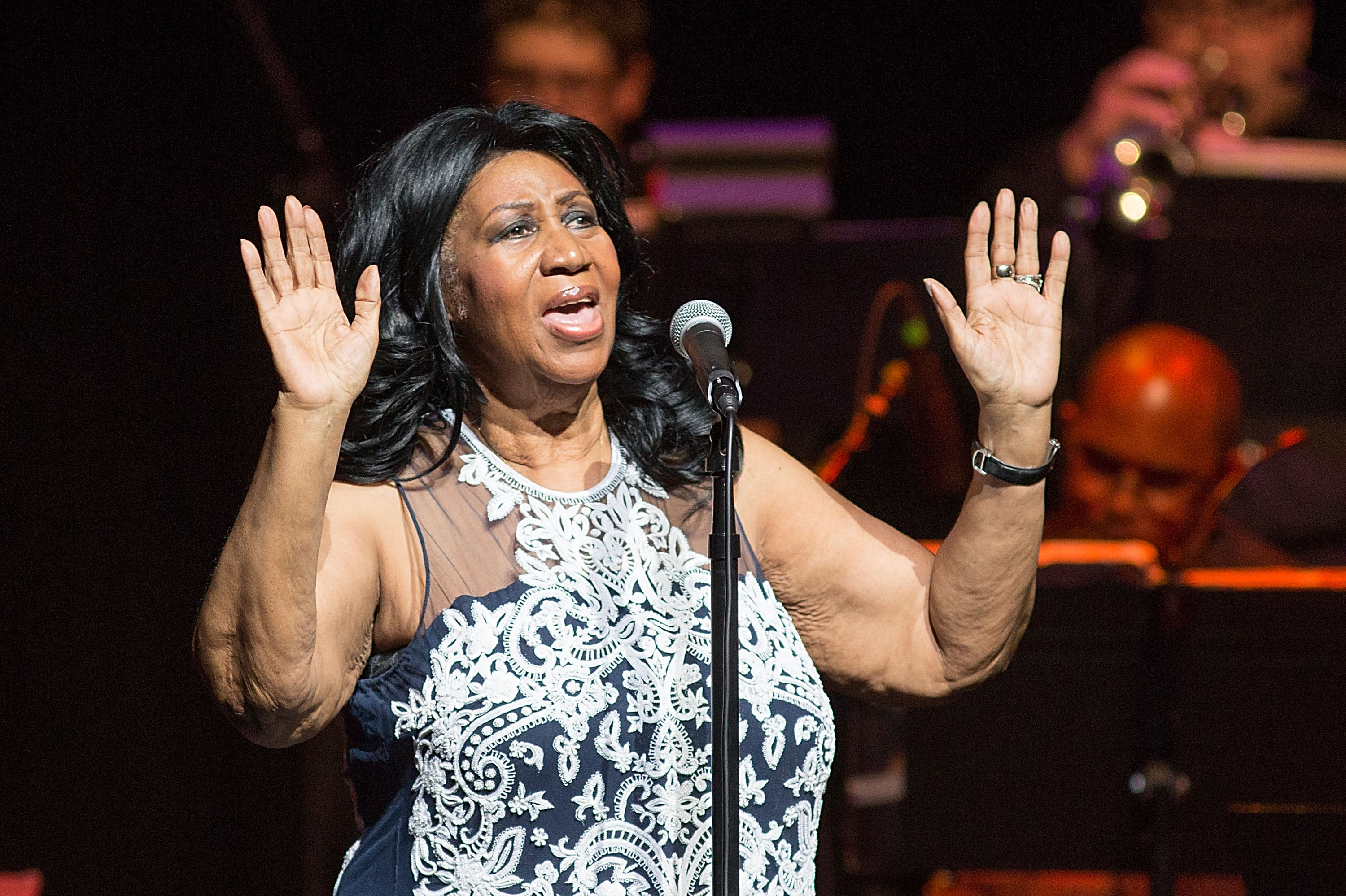 Singer Aretha Franklin performs in concert at ACL Live on September 3, 2014 in Austin, Texas.