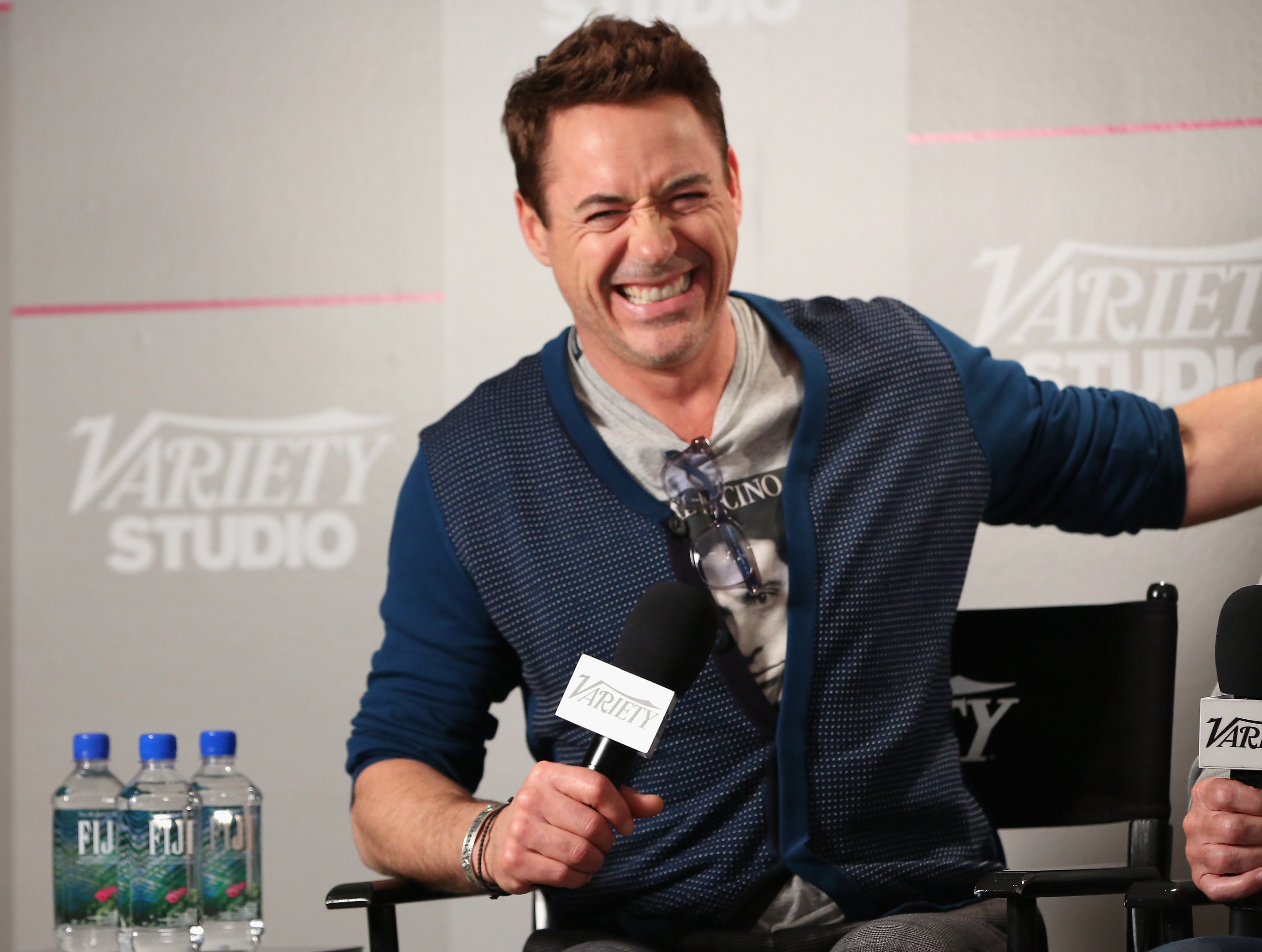 Actor Robert Downey Jr. attends day 2 of the Variety Studio presented by Moroccanoil at Holt Renfrew during the 2014 Toronto International Film Festival.