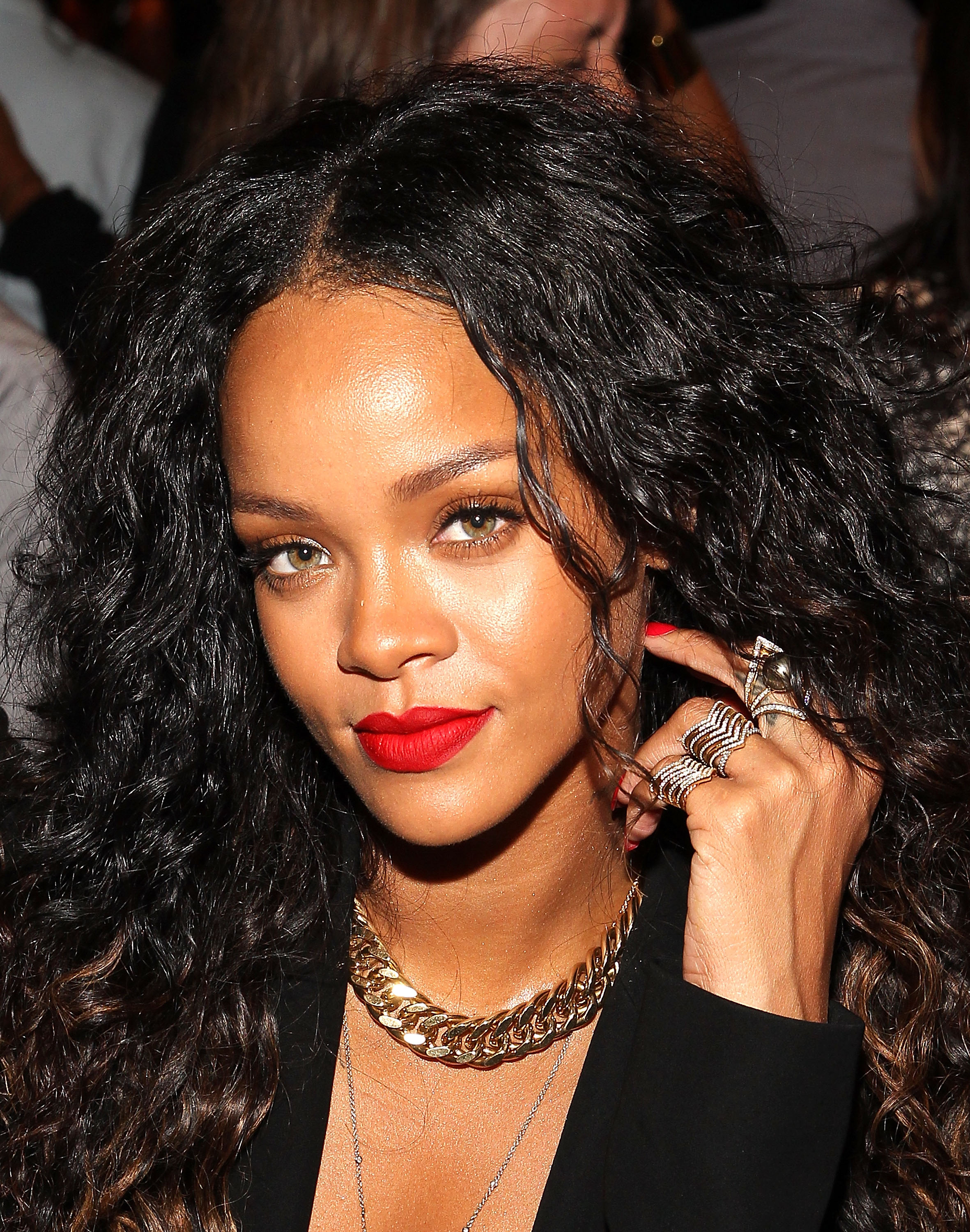 Rihanna attends the Altuzarra fashion show during Mercedes-Benz Fashion Week Spring 2015 at Spring Studios on September 6, 2014 in New York City.