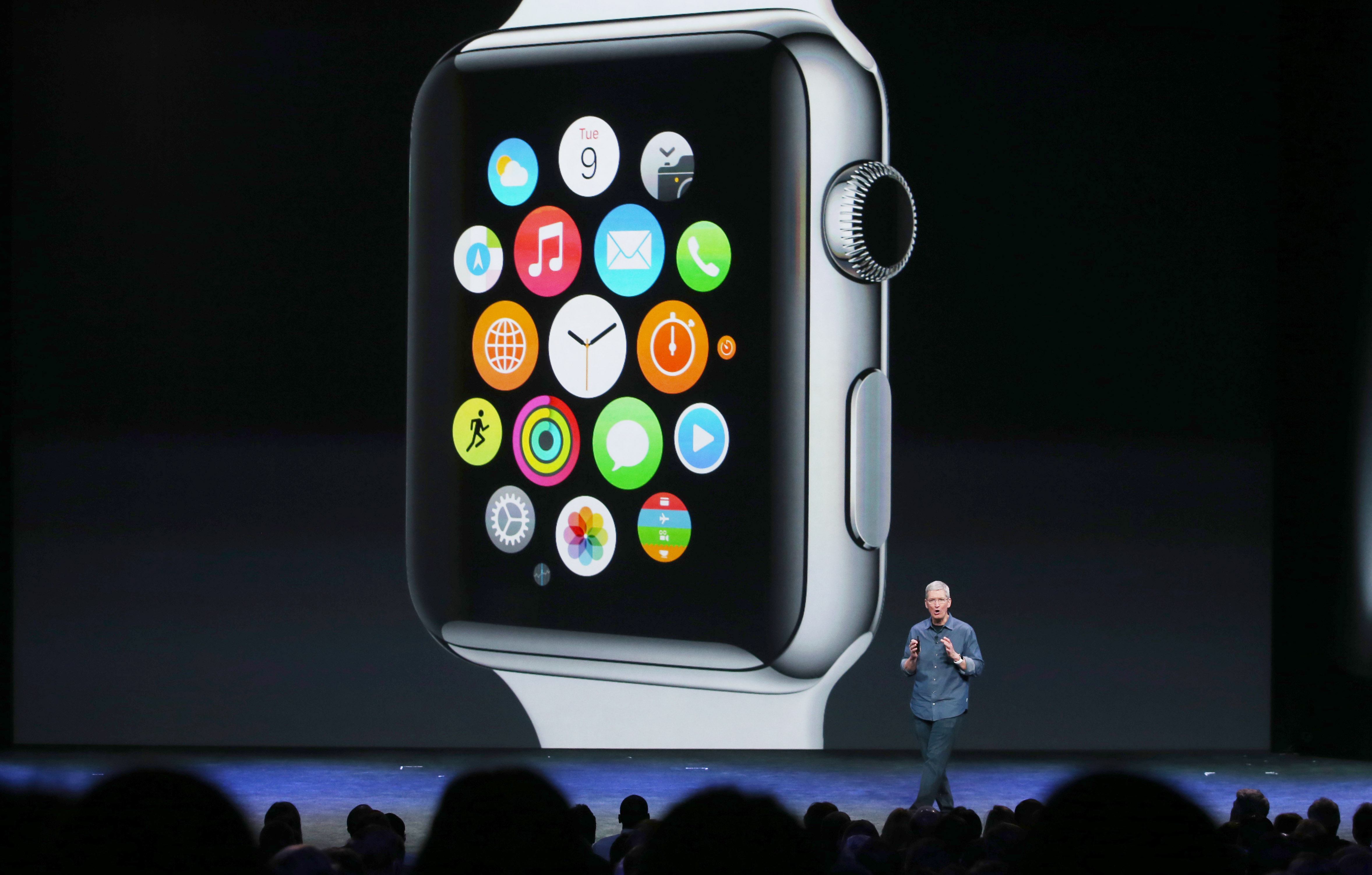 Apple CEO Tim Cook talks about the Apple Watch during an Apple special event at the Flint Center for the Performing Arts on September 9, 2014 in Cupertino, California.