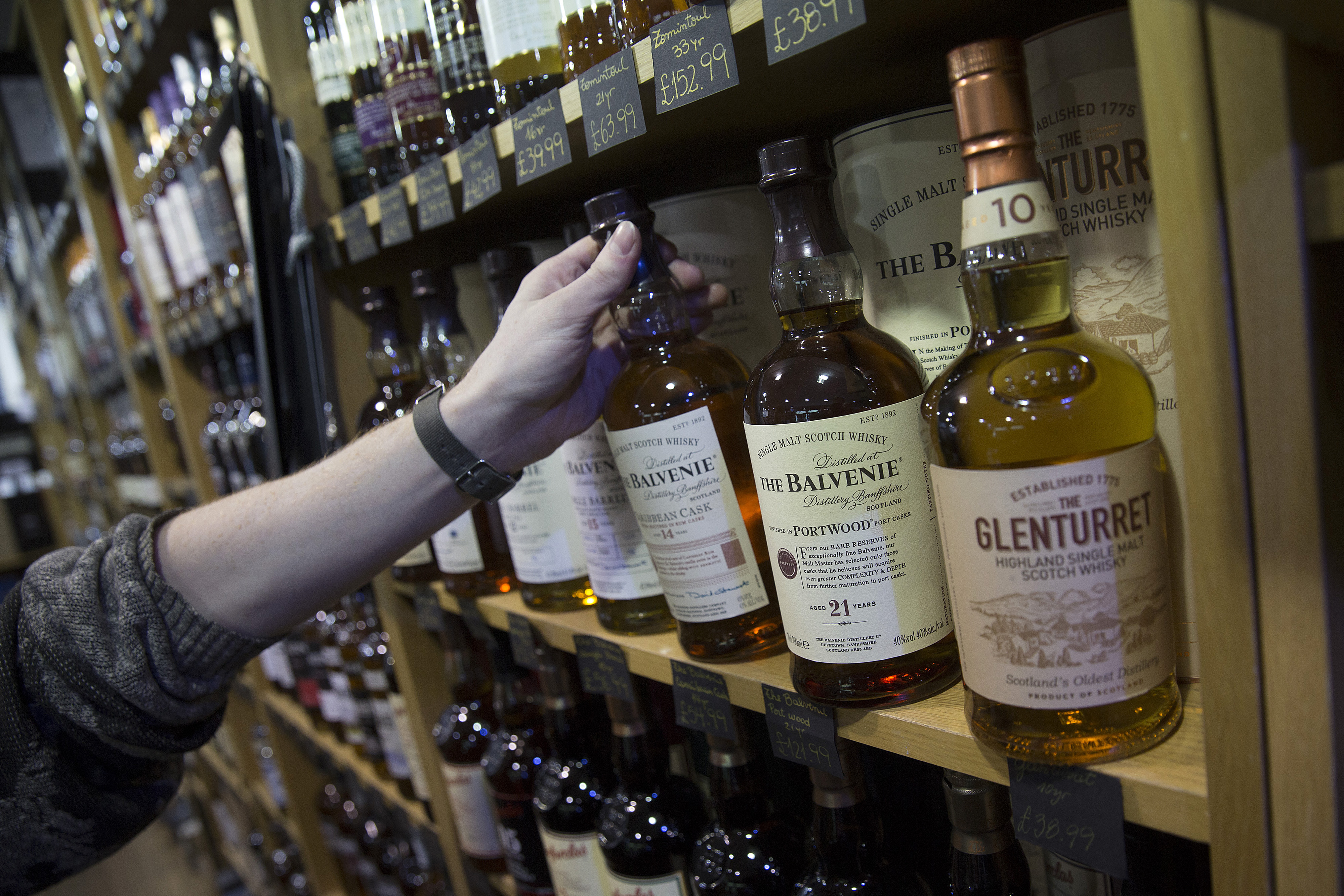 A whisky store in Edinburgh, Scotland,  seen in Jan. 2014.