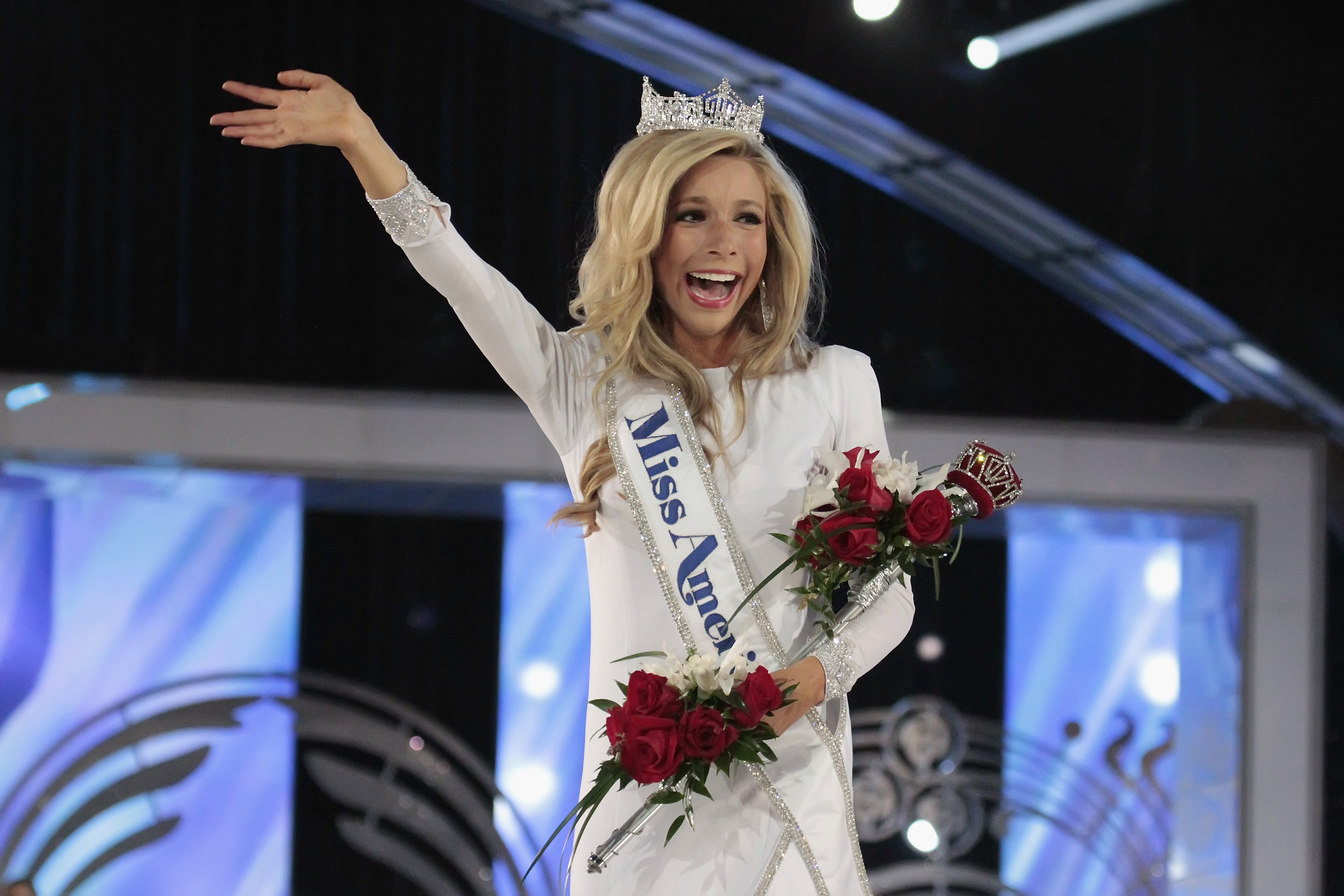 Kira Kazantsev, newly crowned Miss America 2015 walks the runway at Atlantic City Boardwalk Hall on September 14, 2014 in Atlantic City, New Jersey.