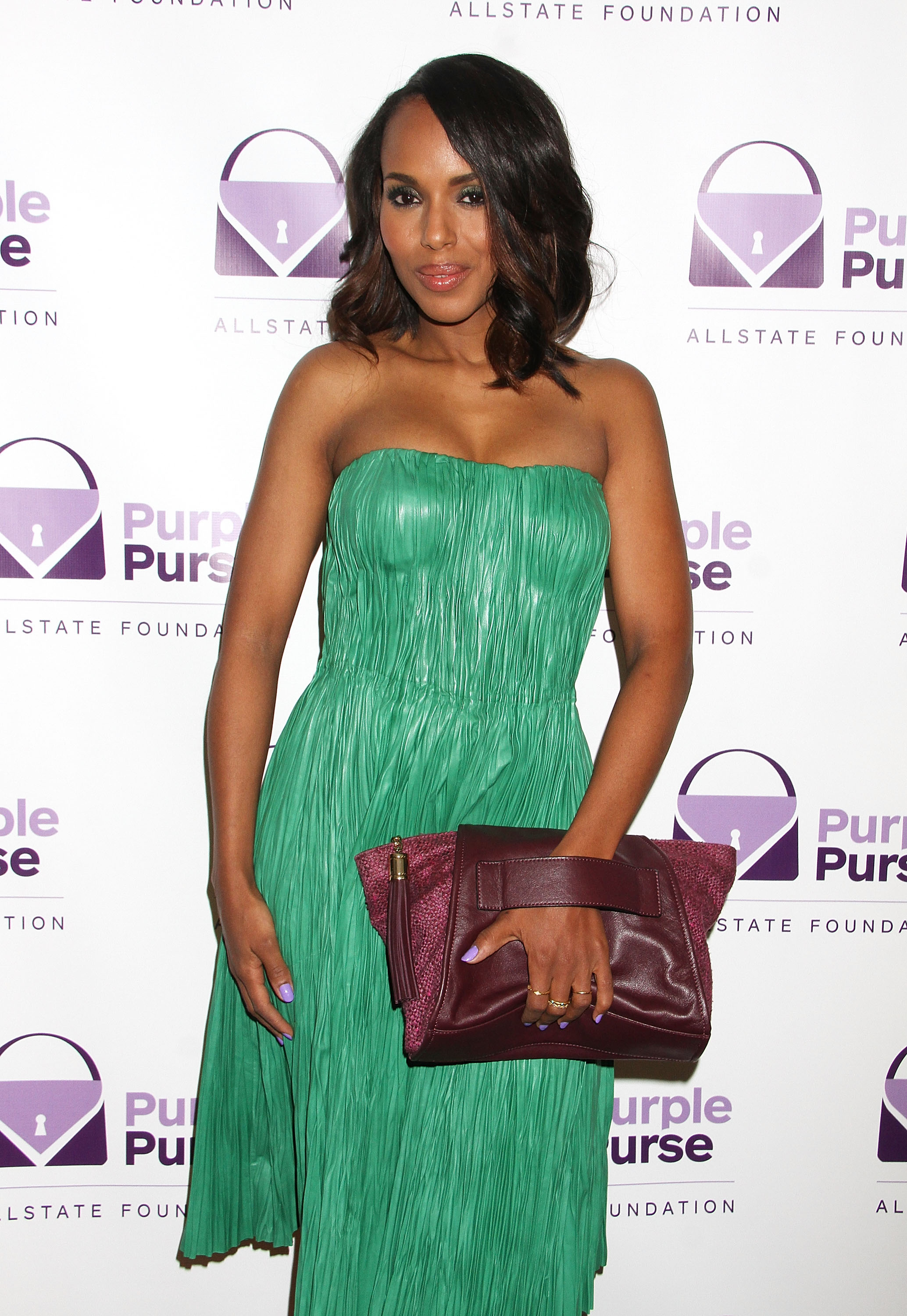 Kerry Washington attends the 2014 Allstate Foundation Purple Purse Program Hosted By Kerry Washington at The Glasshouses on September 15, 2014 in New York City.