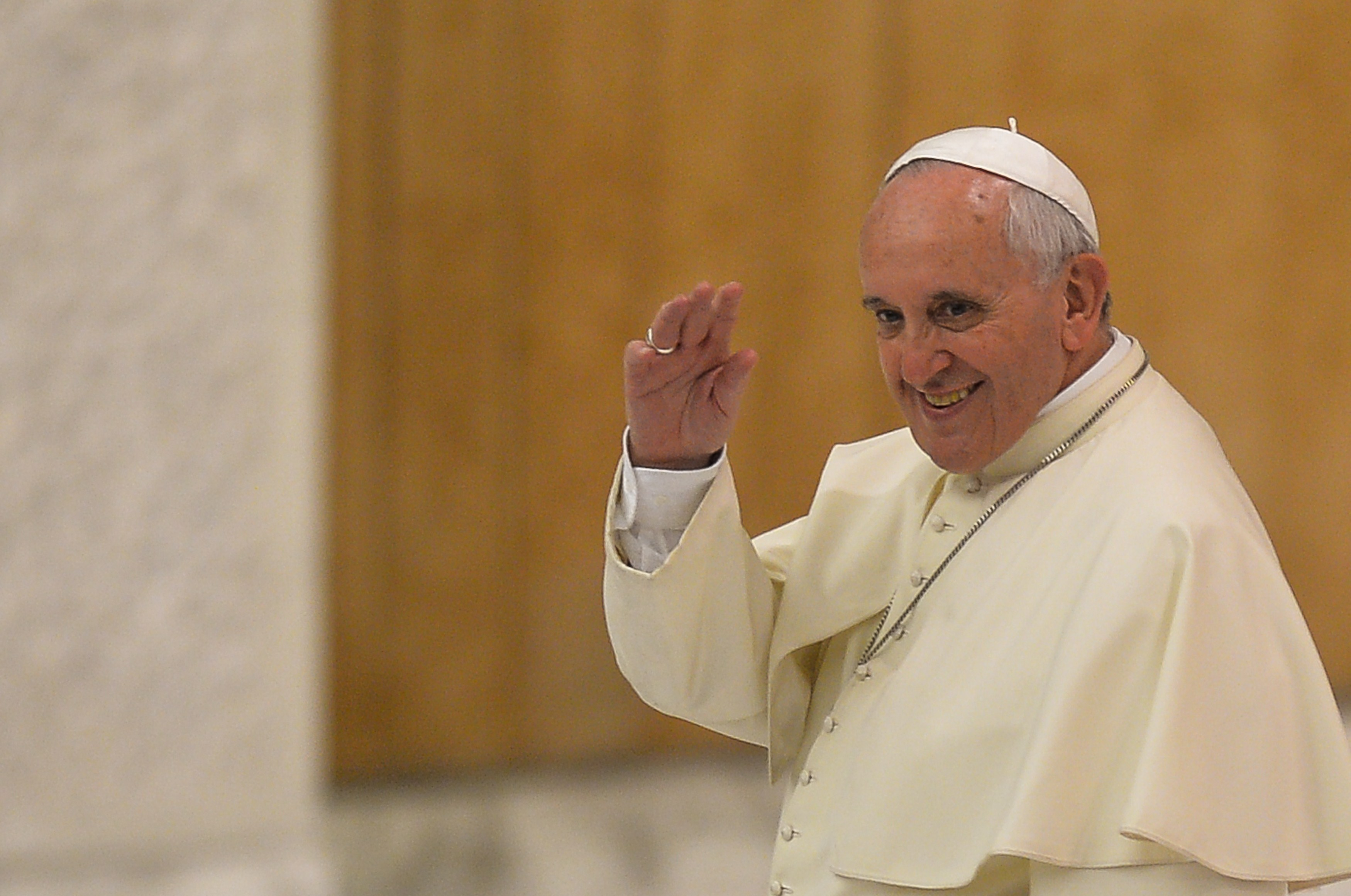 Pope Francis gives a speech during the International Meeting of Pastoral Care project  Evangelii Gaudium  at the Vatican, on September 19, 2014.