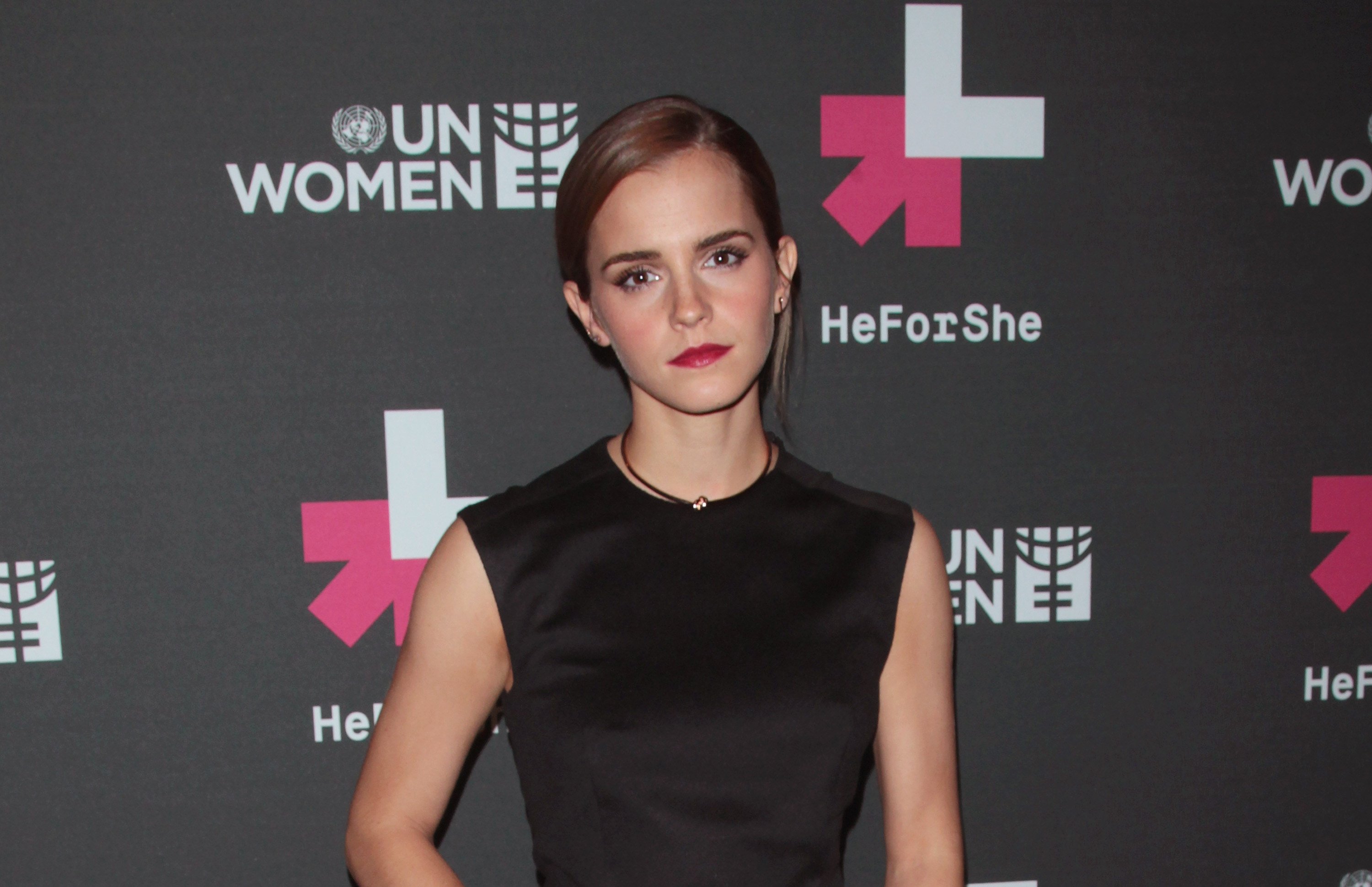 Actress Emma Watson attends the UN Women's  HeForShe  VIP After Party at The Peninsula Hotel on September 20, 2014 in New York City.