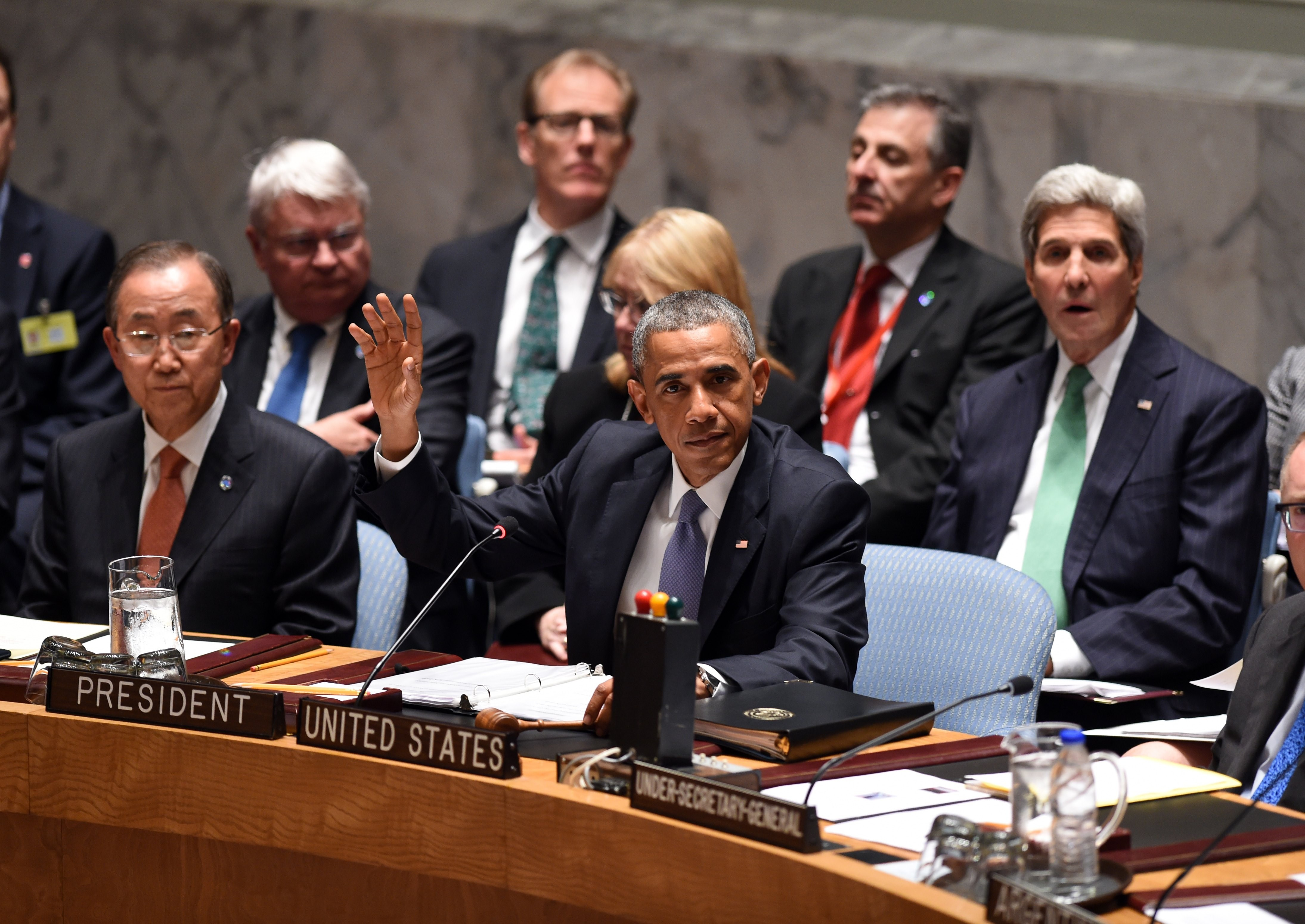 U.S. President Barack Obama chairs a special meeting of the U.N. Security Council during the 69th session of the U.N. General Assembly on Sept. 24, 2014, in New York City