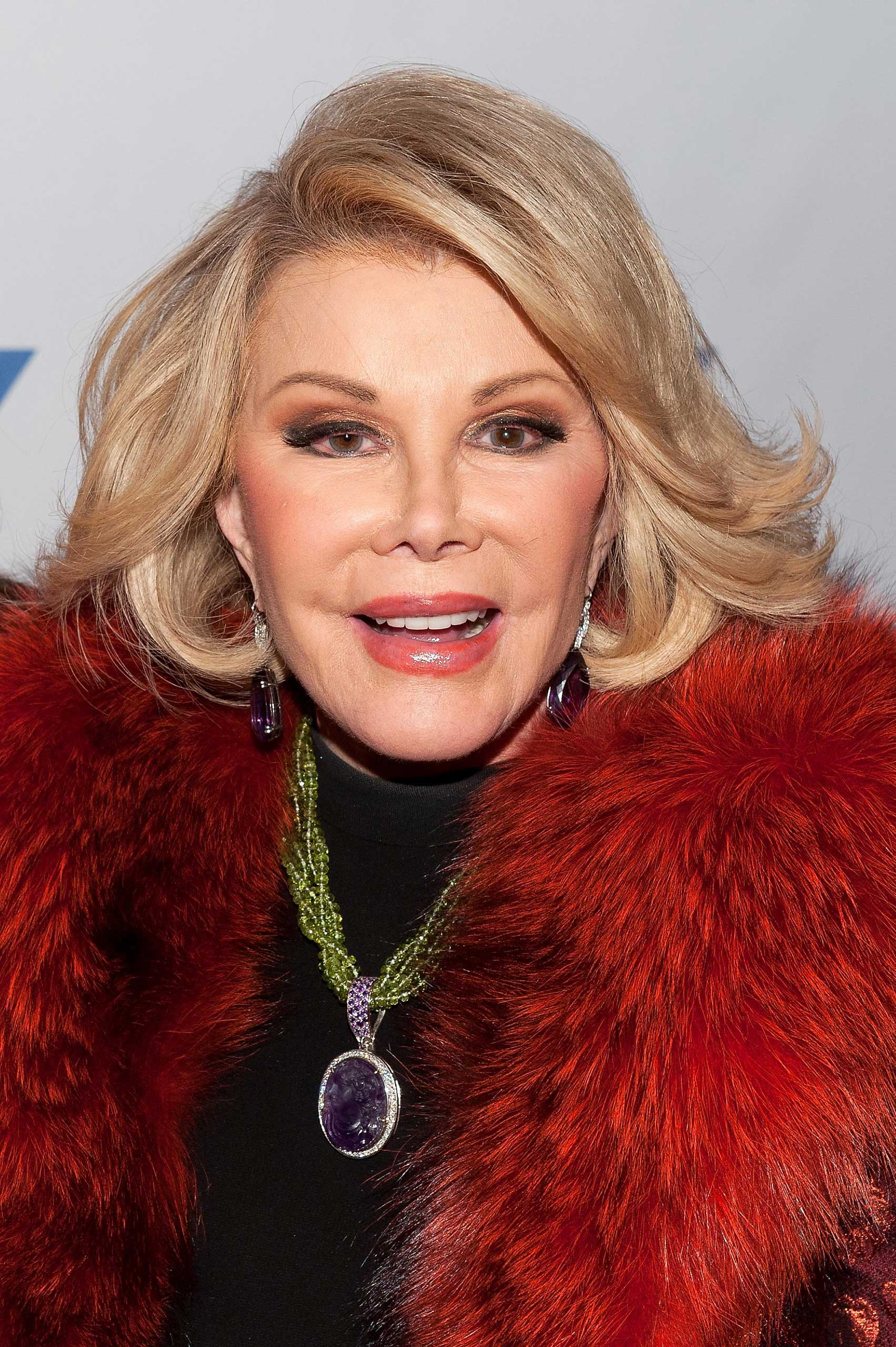 The late Joan Rivers on Jan. 22, 2014 in New York City.