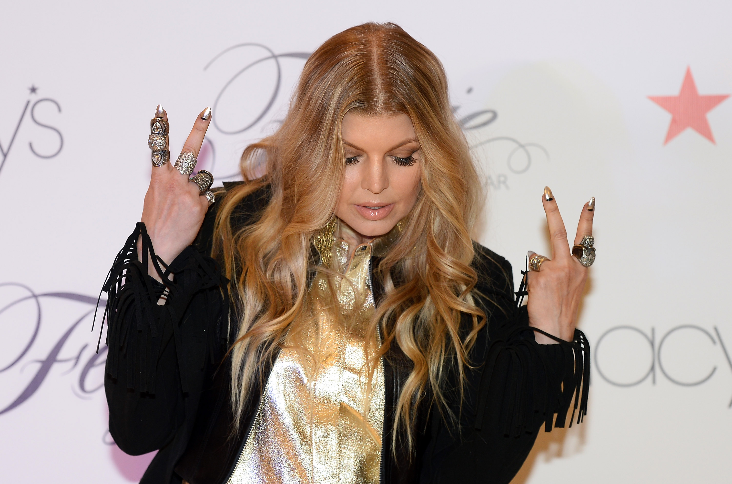 Singer Fergie Duhamel appears at Macy's at the Fashion Show