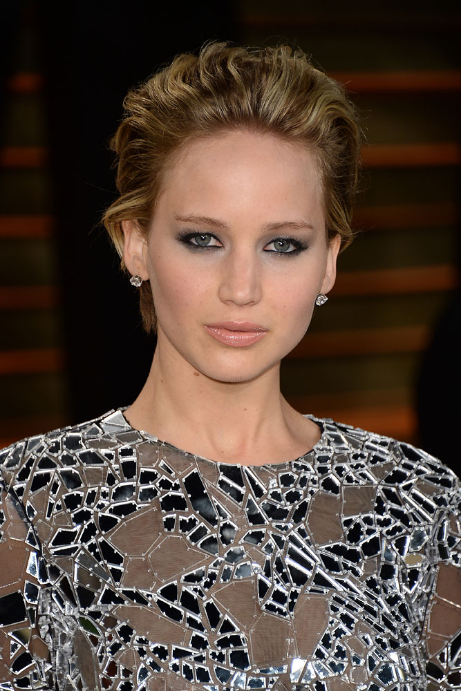 Jennifer Lawrence arrives at the 2014 Vanity Fair Oscar Party on March 2, 2014 in West Hollywood, Calif.