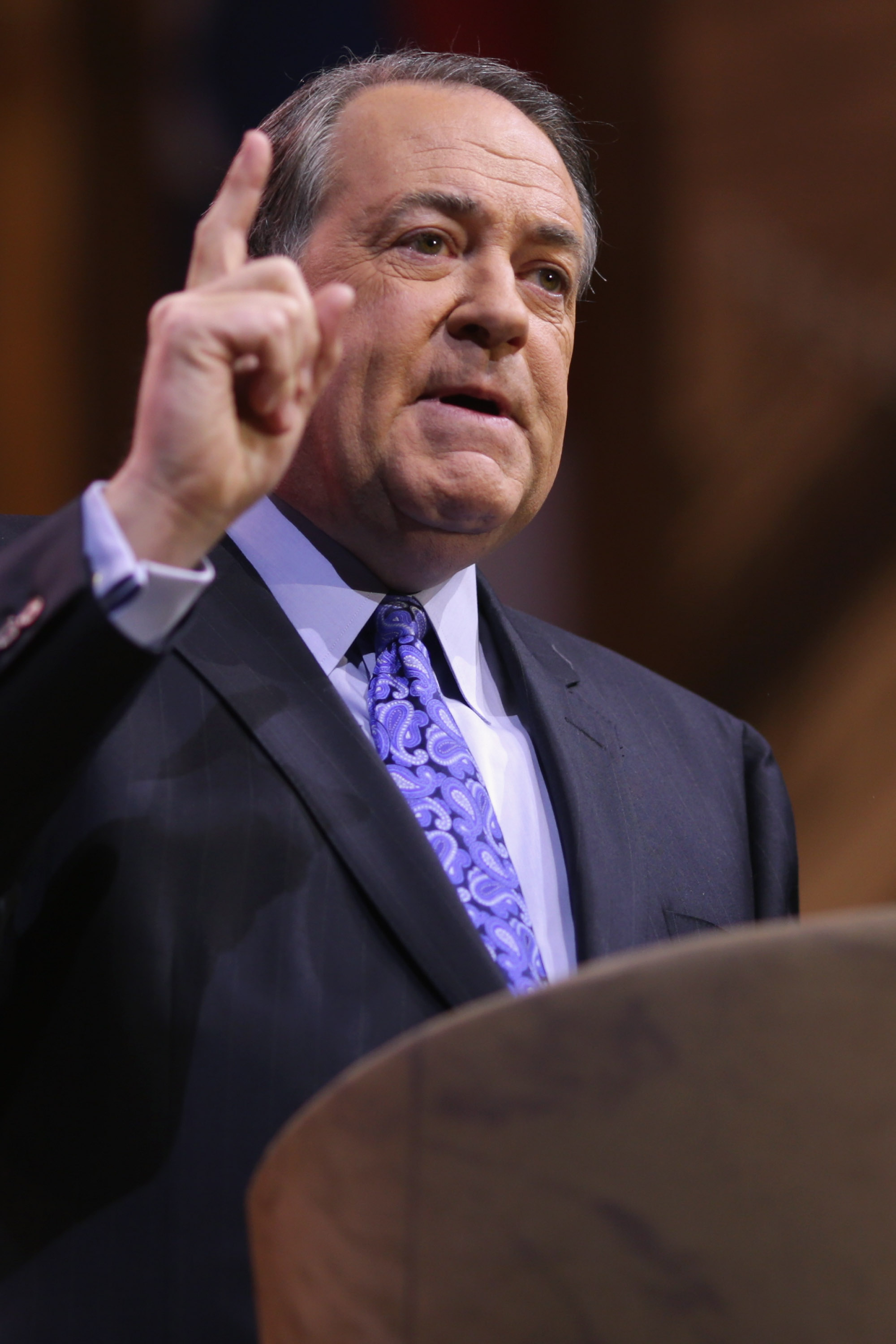 Former Arkansas Governor Mike Huckabee speaks during the second day of the Conservative Political Action Conference at the Gaylord International Hotel and Conference Center March 7, 2014 in National Harbor, Maryland.
