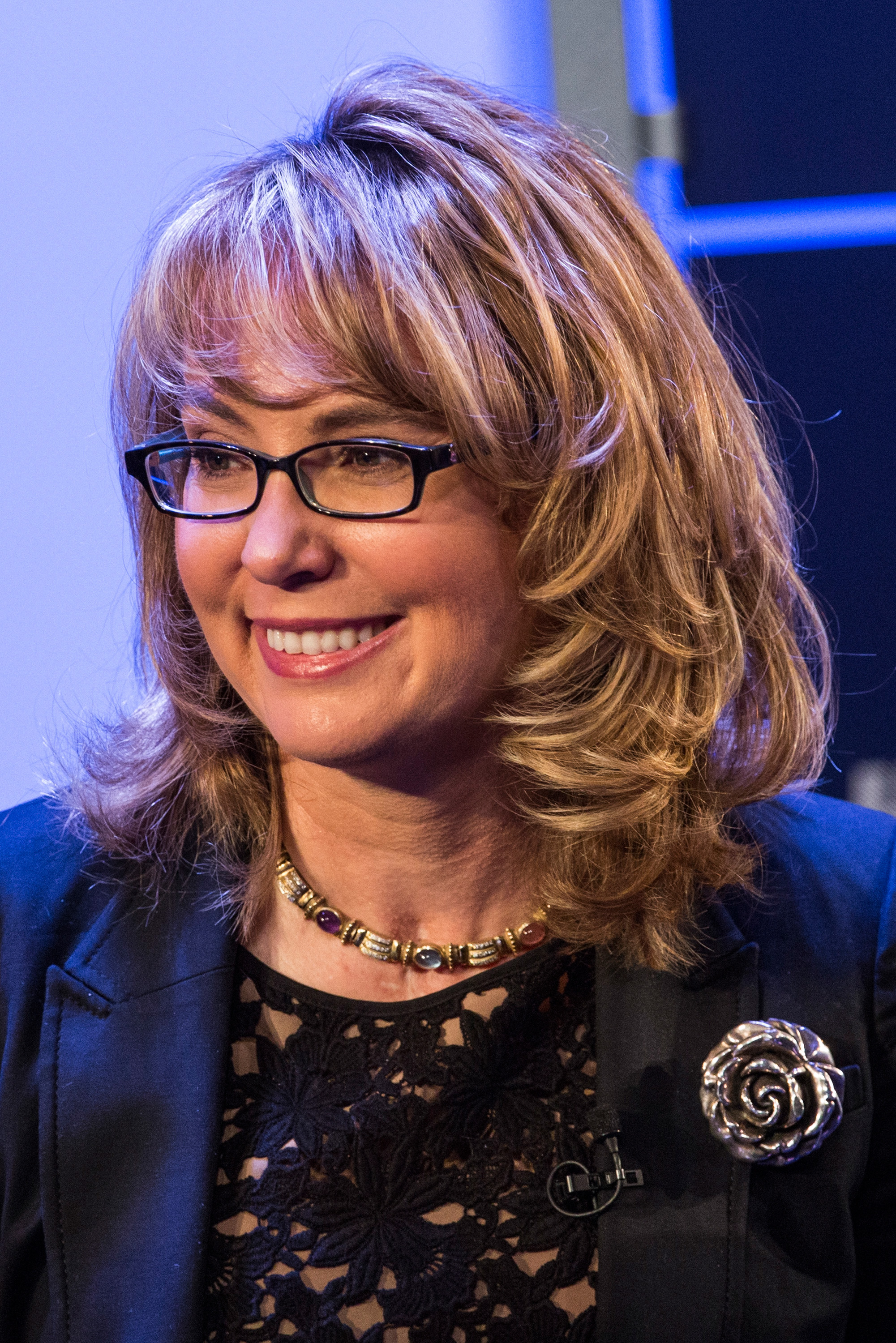 Retired Congresswoman and co-founder of Americans for Responsible Solutions, Gabby Giffords, speaks at New York Ideas, a conference that brings together leaders from a variety of industries on May 6, 2014 in New York City.
