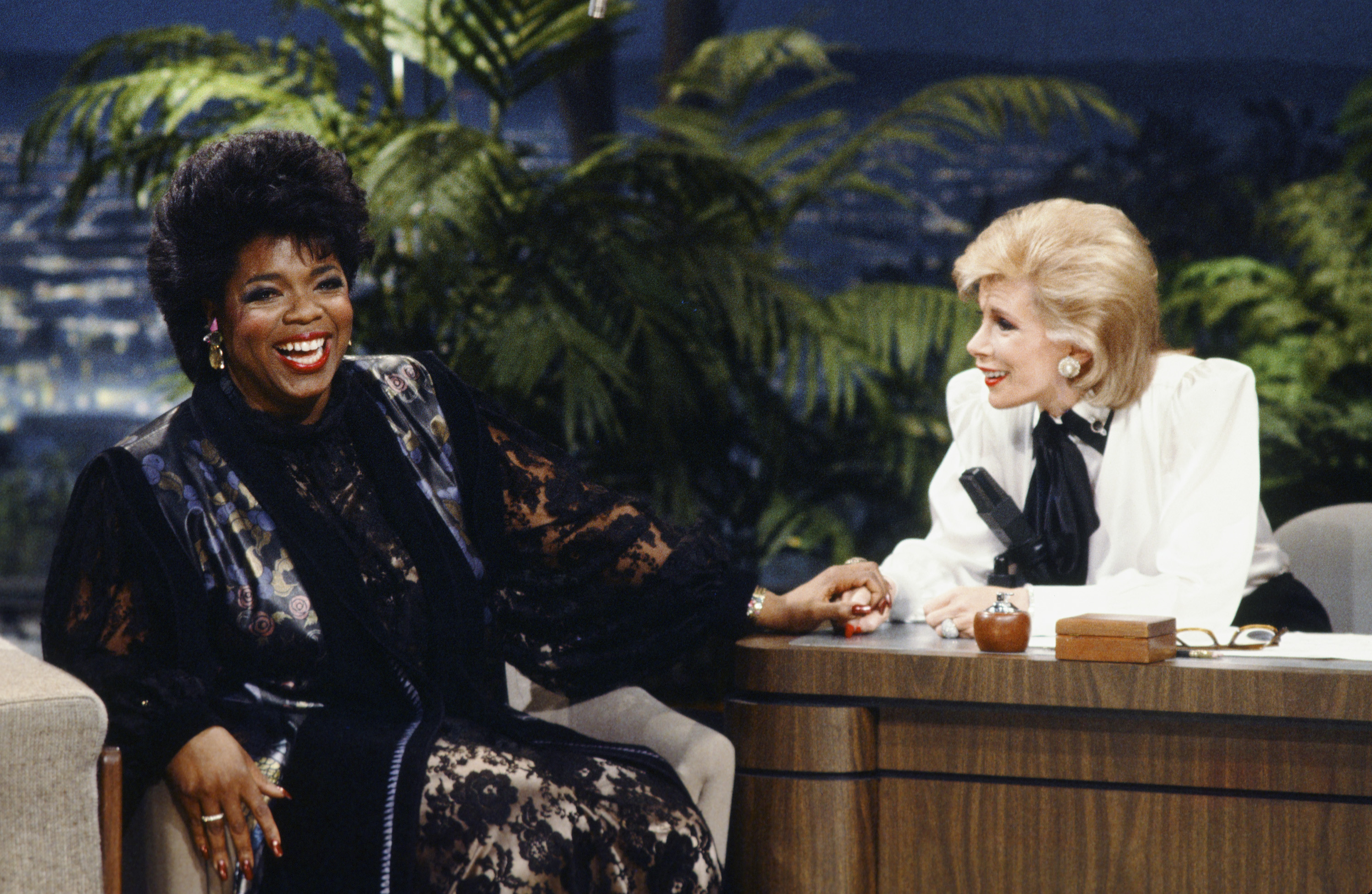 "Oprah Winfrey was one of the many that Rivers interviewed during her guest-hosting stints on ""The Tonight Show"" in 1986."
