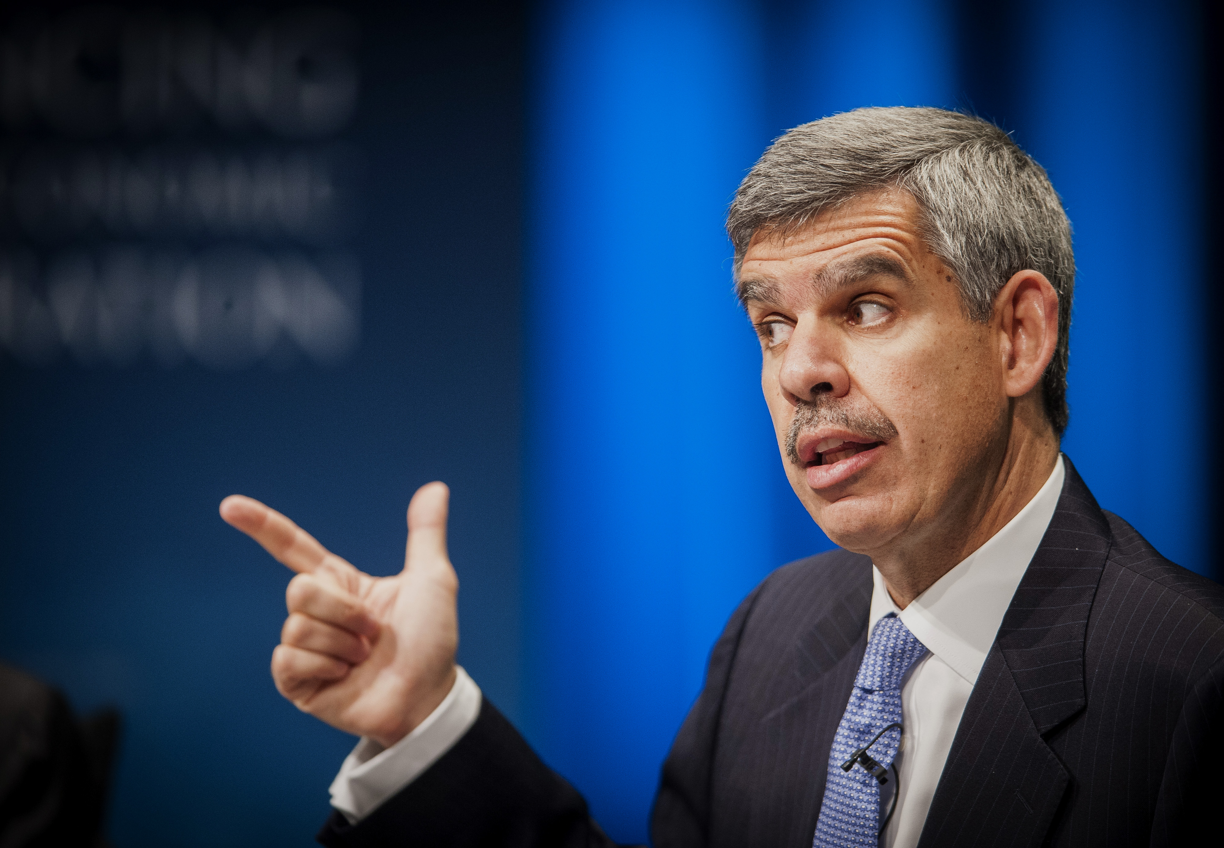 Mohamed El-Erian, chief economic advisor at Allianz SE, speaks during the 31st Annual Meeting of the Bretton Woods Committee at the World Bank