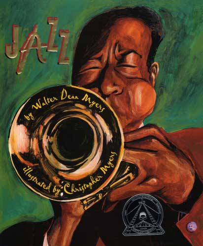 Jazz, by Walter Dean Myers, illustrations by Christopher Myers.                                                                                                                            These jazz poems and their vivid illustrations capture the energy of the genre.                                                                                                                            Buy now: Jazz