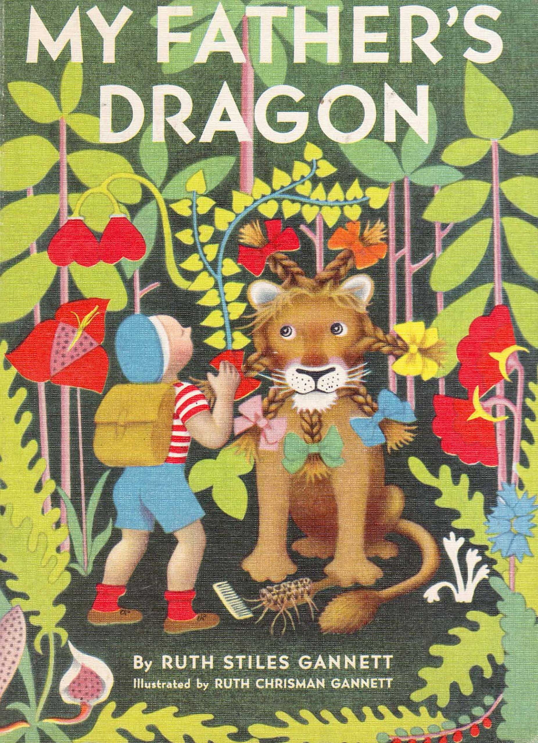 My Father's Dragon, by Ruth Stiles Gannett, illustrations by Ruth Chrisman Gannett.                                                                                                                            A child adventures to a dangerous island to free a baby dragon.                                                                                                                            Buy now: My Father's Dragon