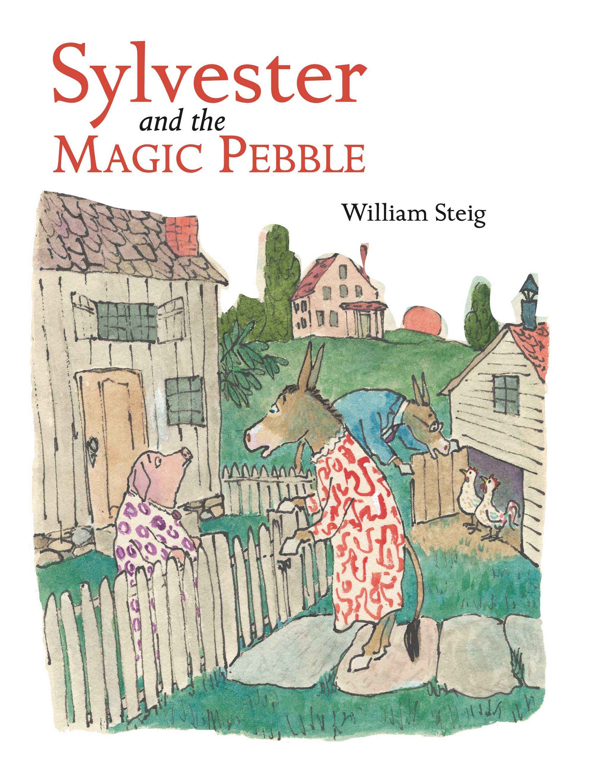 Sylvester and the Magic Pebble, by William Steig.                                                                                                                            A donkey finds a pebble that makes all his wishes come true, but accidentally turns himself to stone.                                                                                                                            Buy now: Sylvester and the Magic Pebble