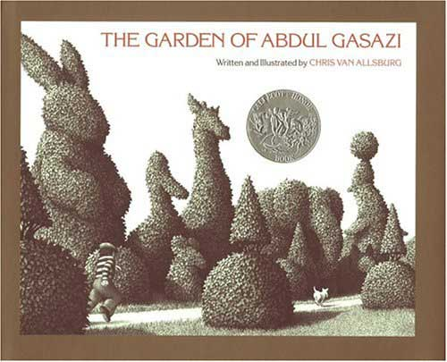 The Garden of Abdul Gasazi, by Chris Van Allsburg.                                                                                                                            An elegant, eerie story about an enchanted garden where it is not easy to separate what's real from what isn't.                                                                                                                            Buy now: The Garden of Abdul Gasazi