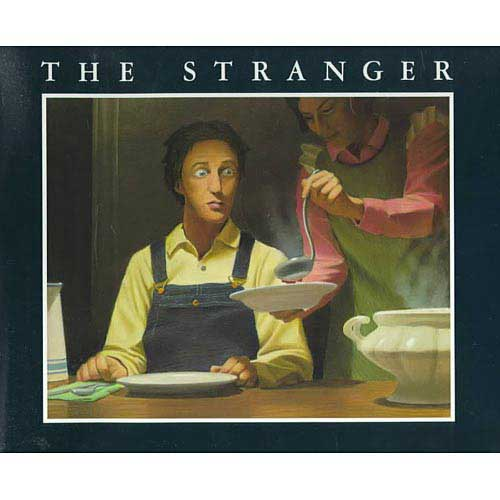 The Stranger, by Chris Van Allsburg.                                                                                                                            A suspenseful farm tale about a mystery visitor who seems to control the weather.                                                                                                                            Buy now: The Stranger
