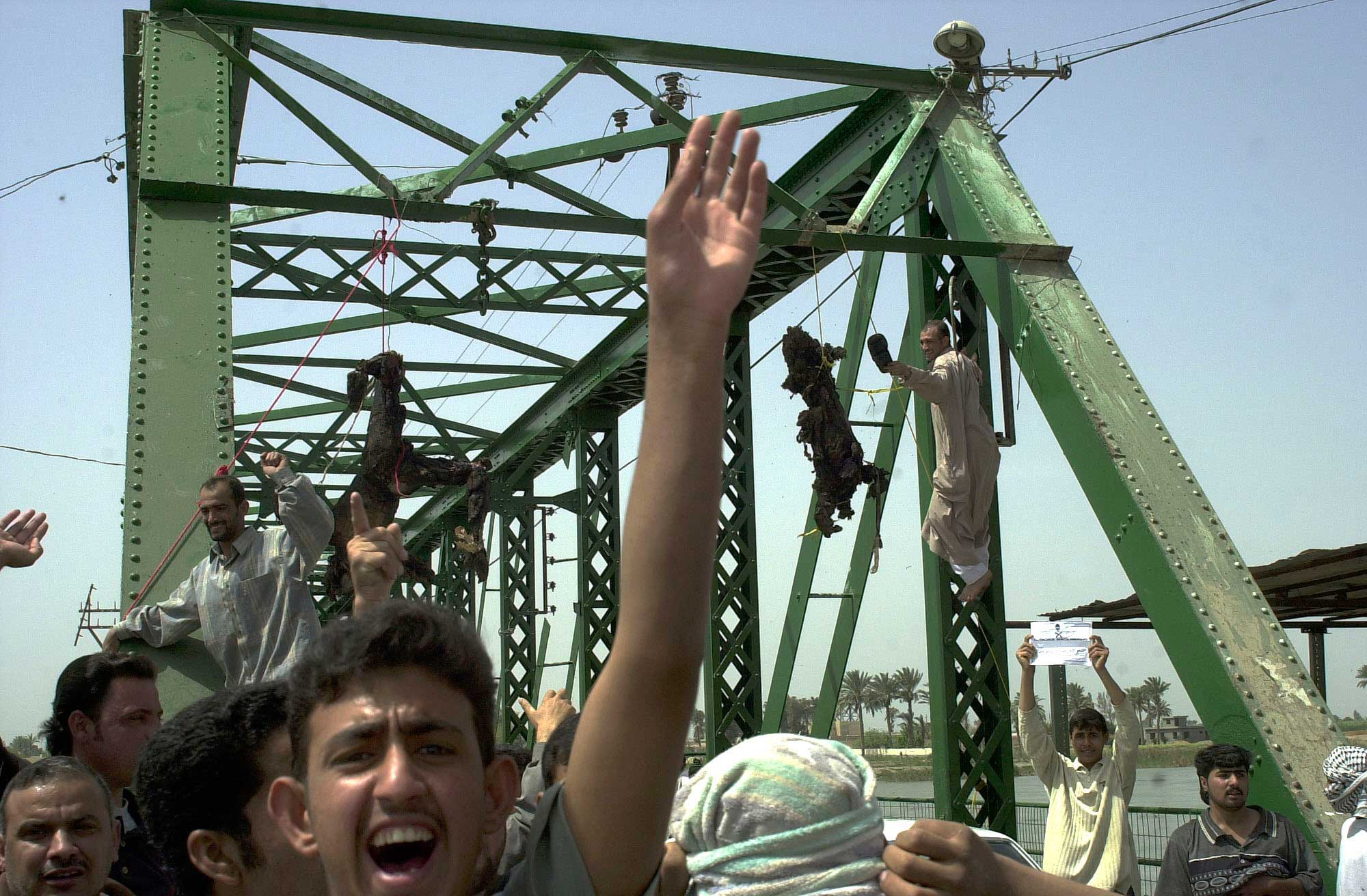 <b>Khalid Mohammed, March 31, 2004                                   </b>                                   Going to Fallujah has always been tough - it is a daily hell. I can smell the death on that day, the way people's eyes did not welcome me, the strange faces, the bodies hanging from the bridge. This was not a movie; it was a nightmare. I believe when you see someone dying and just stand watching, a part of you dies. War is ugly - all monsters, all victims.