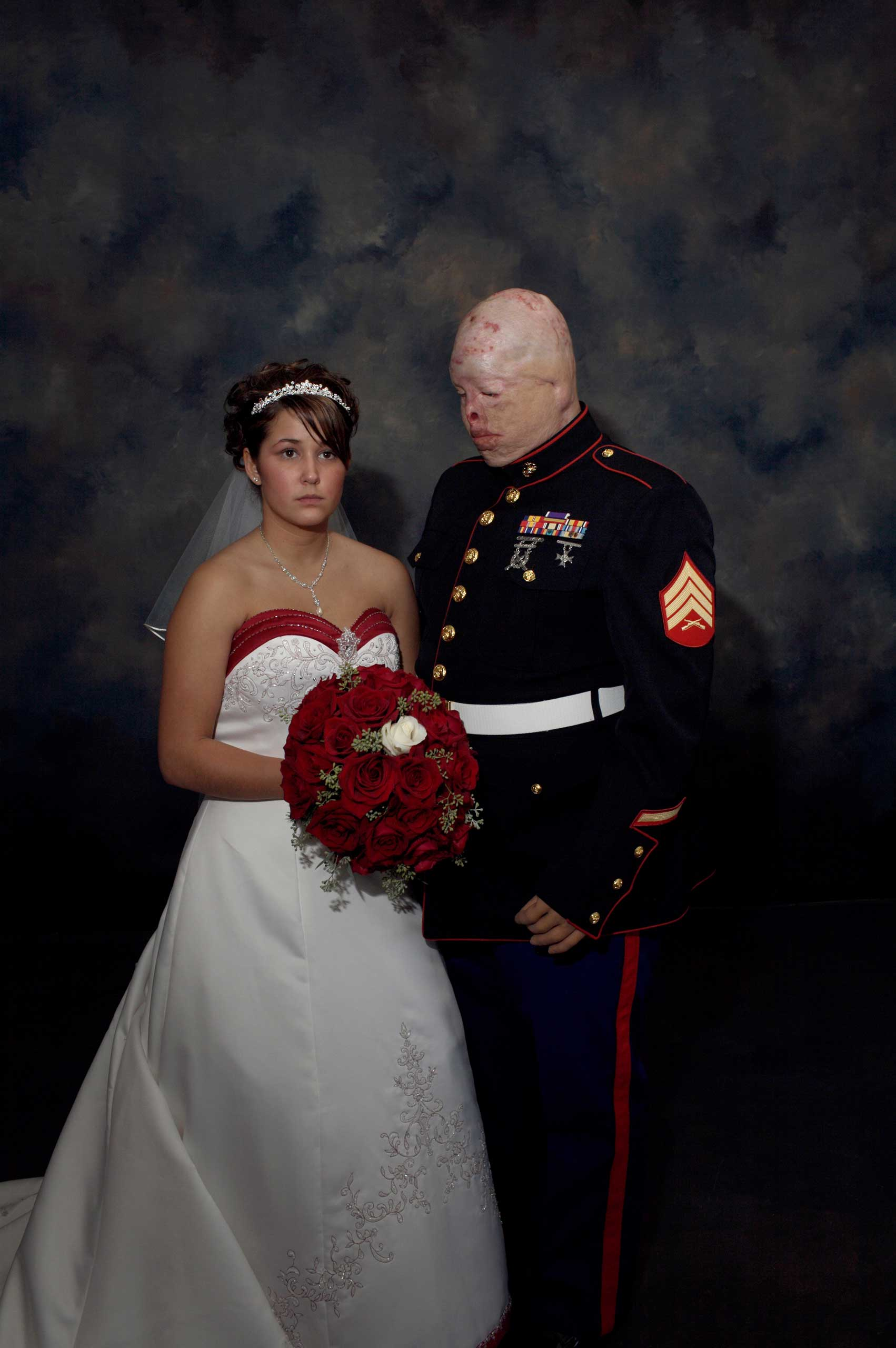 <b>Nina Berman, Oct. 7, 2006                                   </b>                                   Tyler Ziegel and Renee Kline were young sweethearts when Ziegel deployed to Iraq as a reservist in the Marine Corps. On his second tour, he was severely wounded in a suicide car blast. He spent 18 months in surgery and recovery at Brooke Army Medical Center. The love of his family and his fiancée, Ms. Kline, helped him to survive.                                    I had been photographing the couple over several months. On October 7, 2006, the morning of their wedding, I made this image. Through my eyes at that moment, I saw a shell-shocked couple and the heavy legacy of war.                                    They divorced several months later. On December 26, 2012, Ziegel, whose health was always precarious because of his war injuries, slipped on ice, hit his head, and died. He was 30 years old.