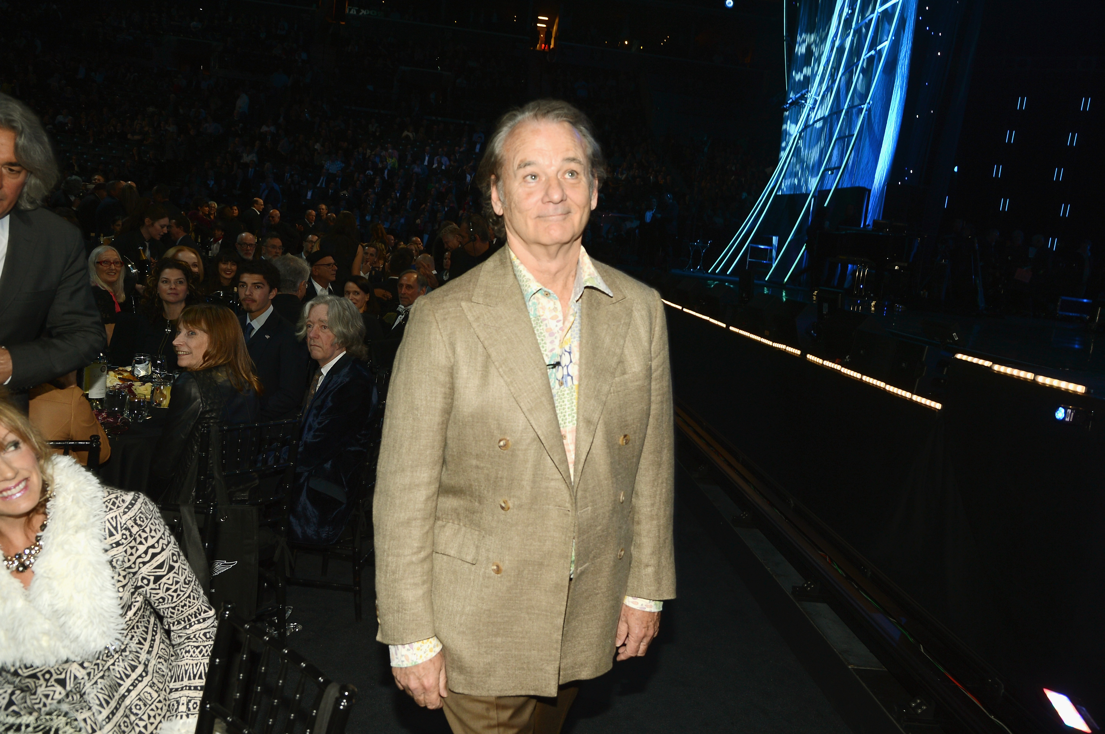 Actor Bill Murray attends the 29th Annual Rock And Roll Hall Of Fame Induction Ceremony at Barclays Center of Brooklyn on April 10, 2014 in New York City.