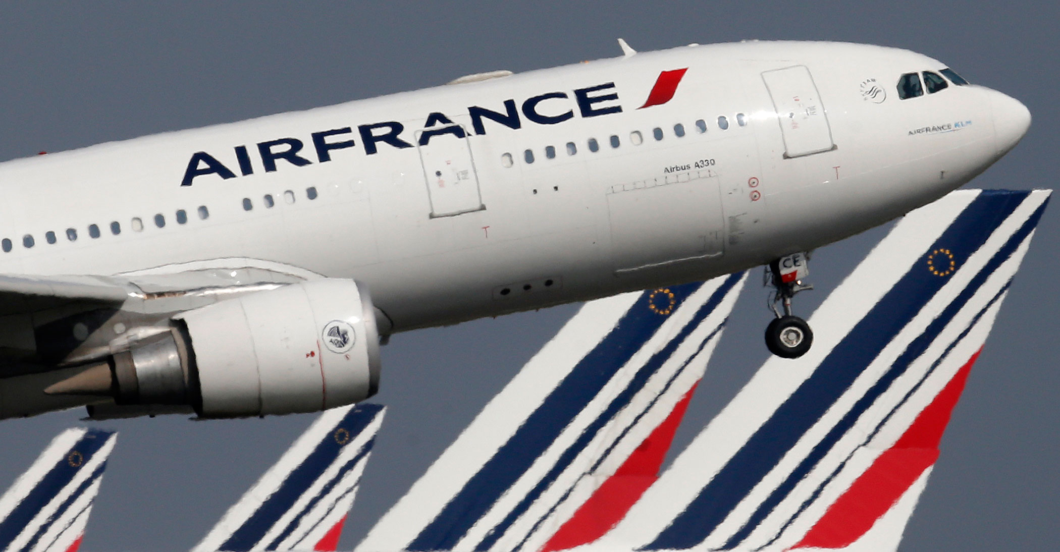 An Air France aircraft takes off at Charles de Gaulle Airport, near Paris, on Sept. 14, 2014