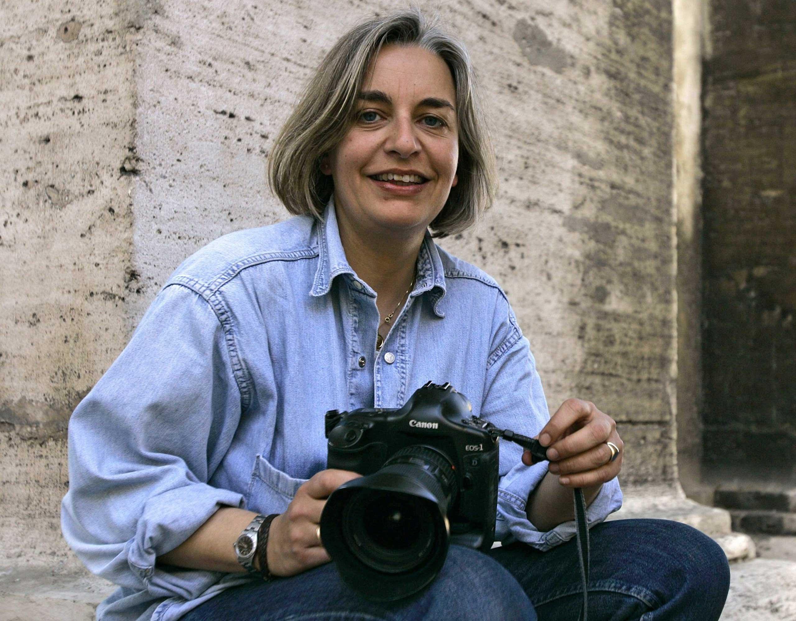 AP photographer Anja Niedringhaus in Rome, 2005.