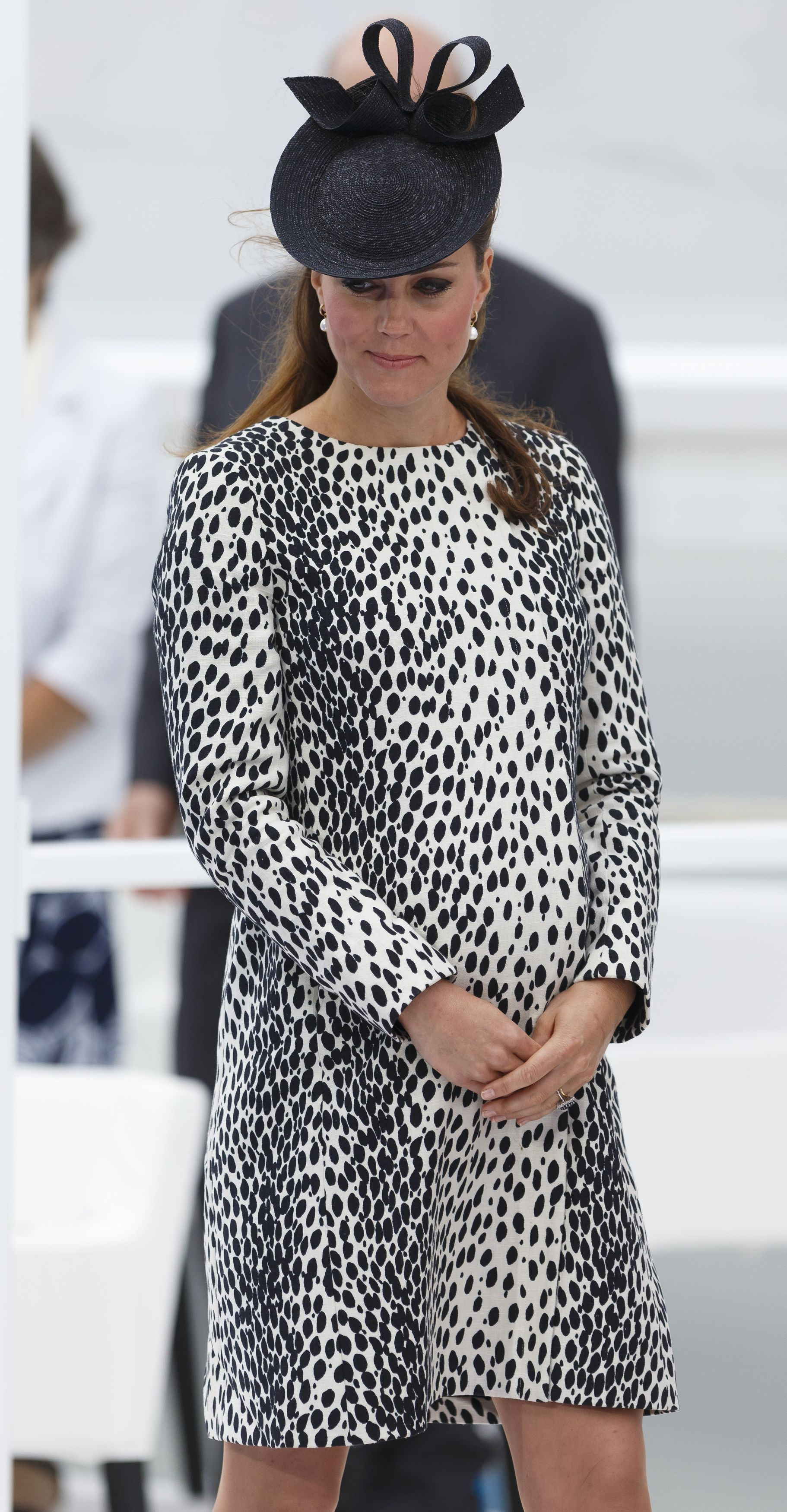 Catherine, Duchess of Cambridge attends the Princess Cruises ship naming ceremony at Ocean Terminal on June 13, 2013 in Southampton, England.